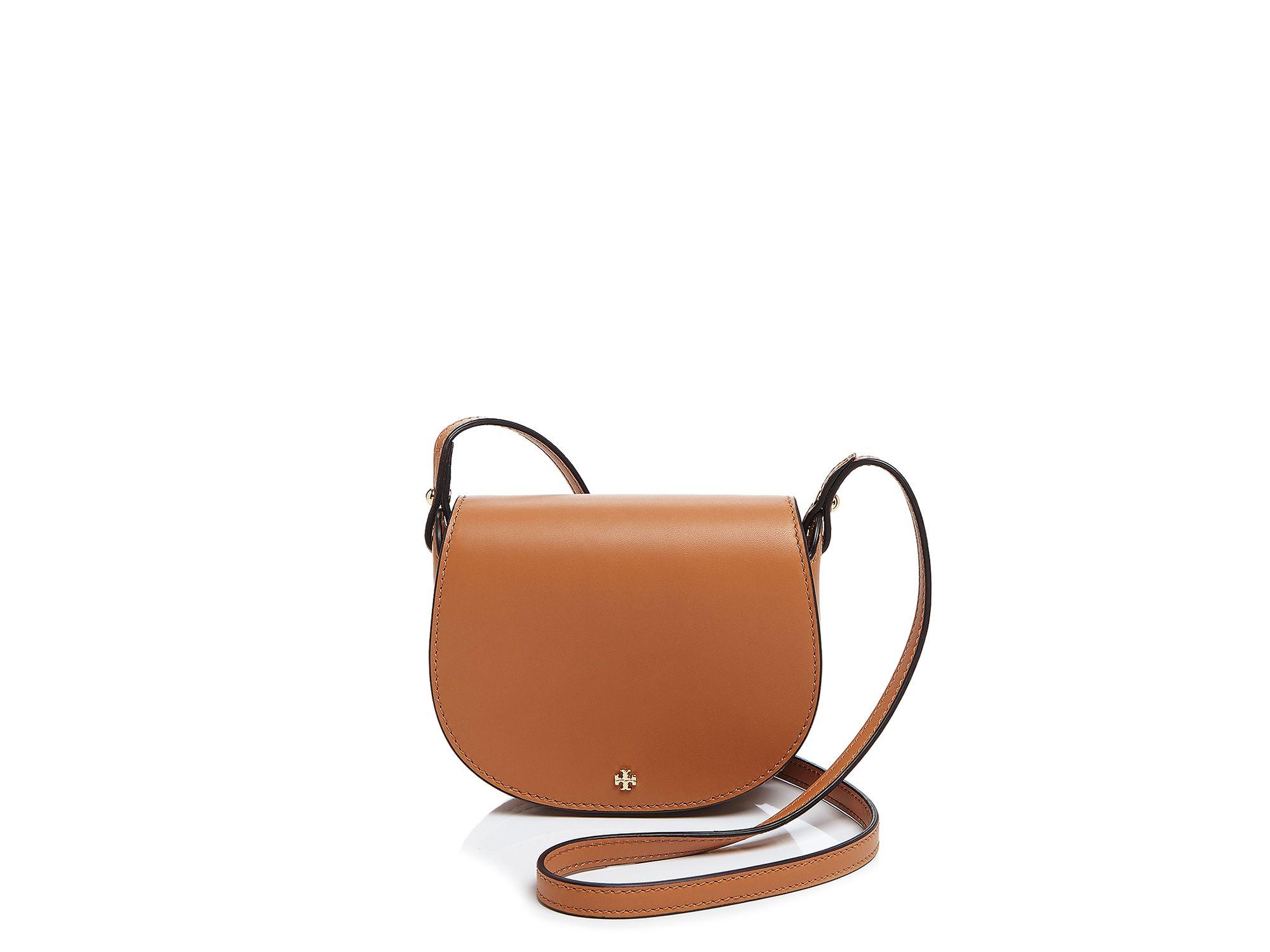6ddf4c54f60 Lyst - Tory Burch Mini Saddle Bag in Natural