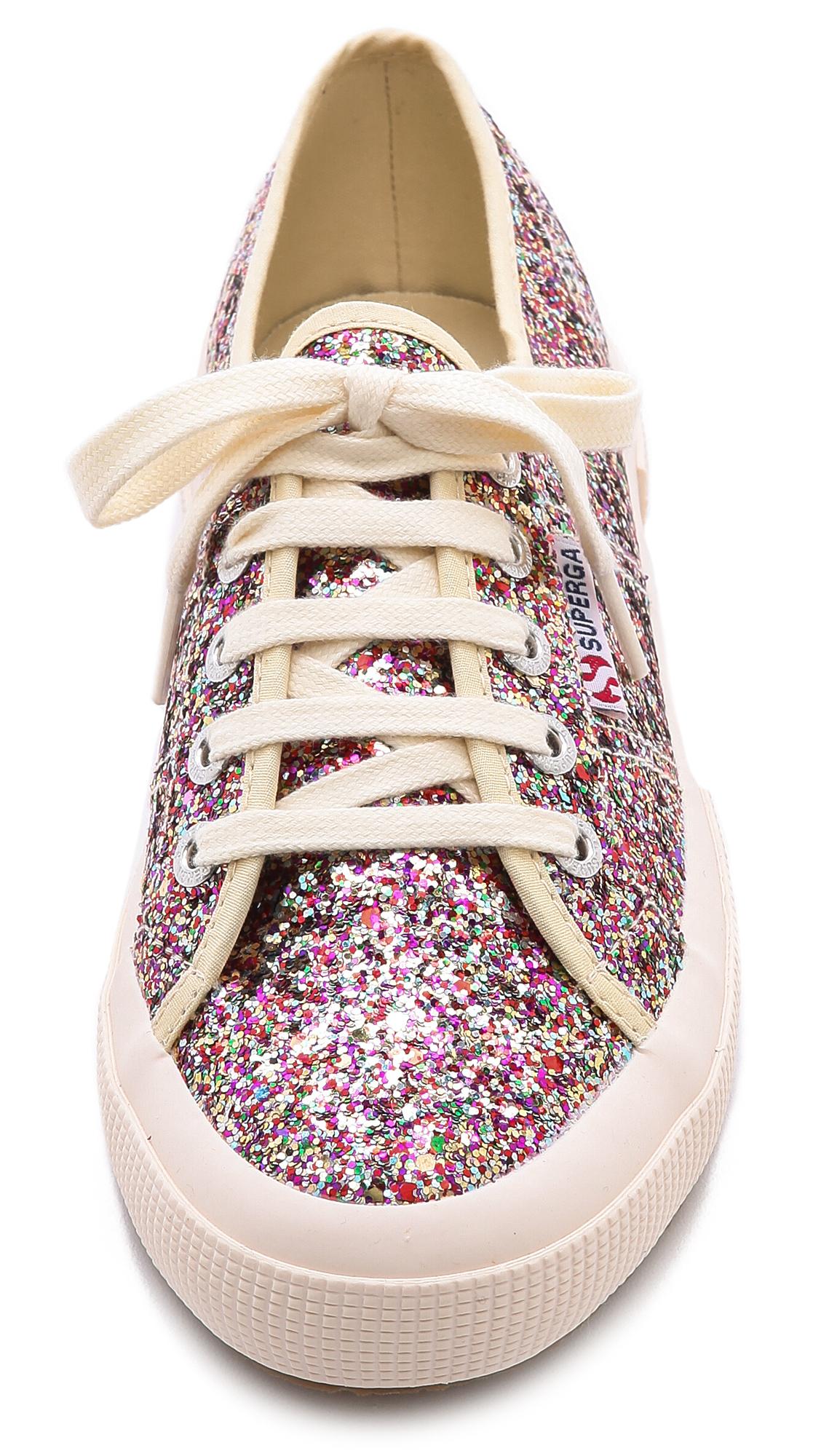 Superga Glitter Sneakers - Multi - Lyst