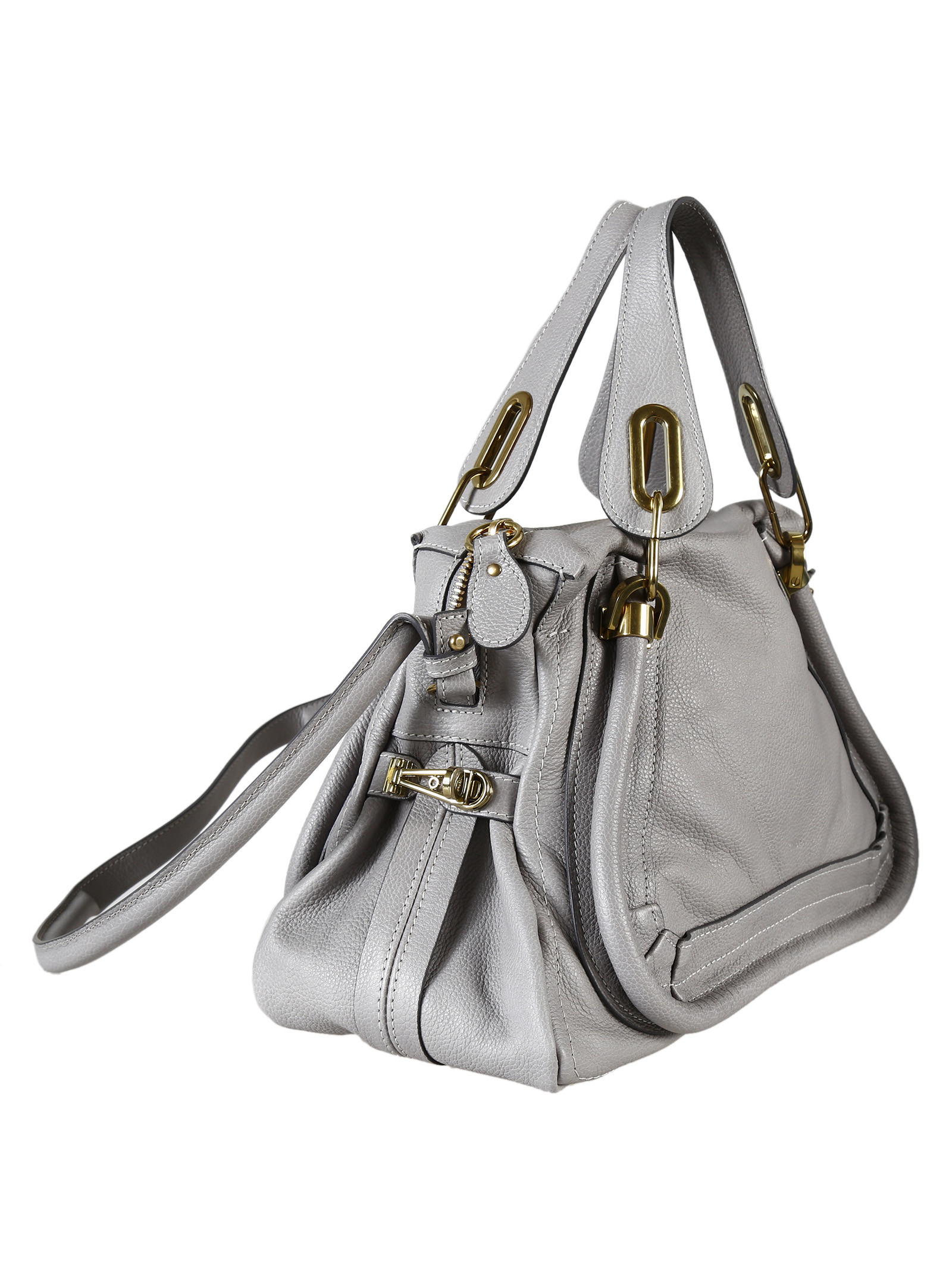 Chlo¨¦ Chlo Paraty Meduim Tote Bag in Gray (Cashmere Grey) | Lyst