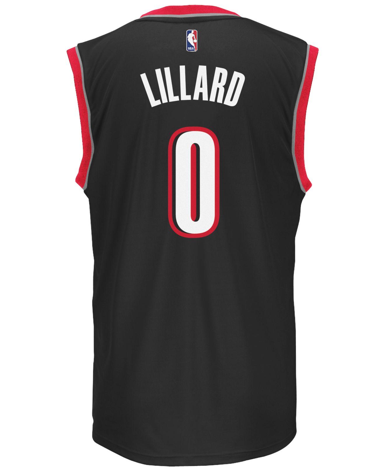 Adidas Mens Damian Lillard Portland Trail Blazers