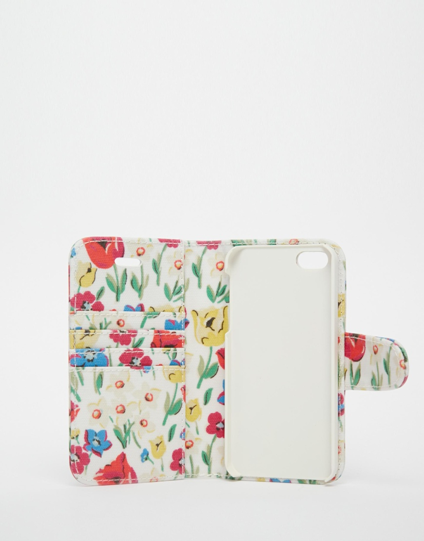 best service f1061 980dd Cath Kidston White Paradise Fields Iphone 5 Case With Card Holder