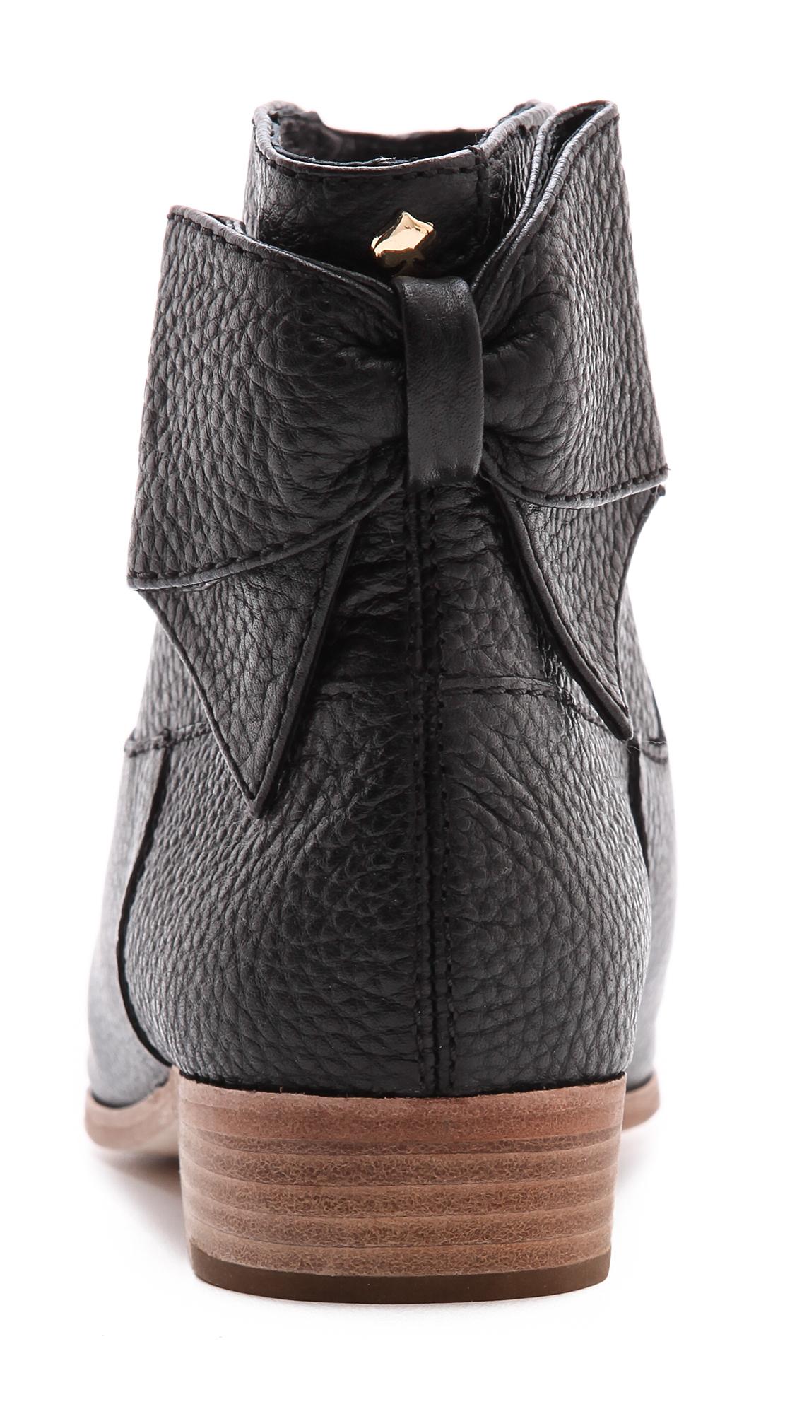 Kate Spade Prospect Flat Bow Booties - Black - Lyst-7428