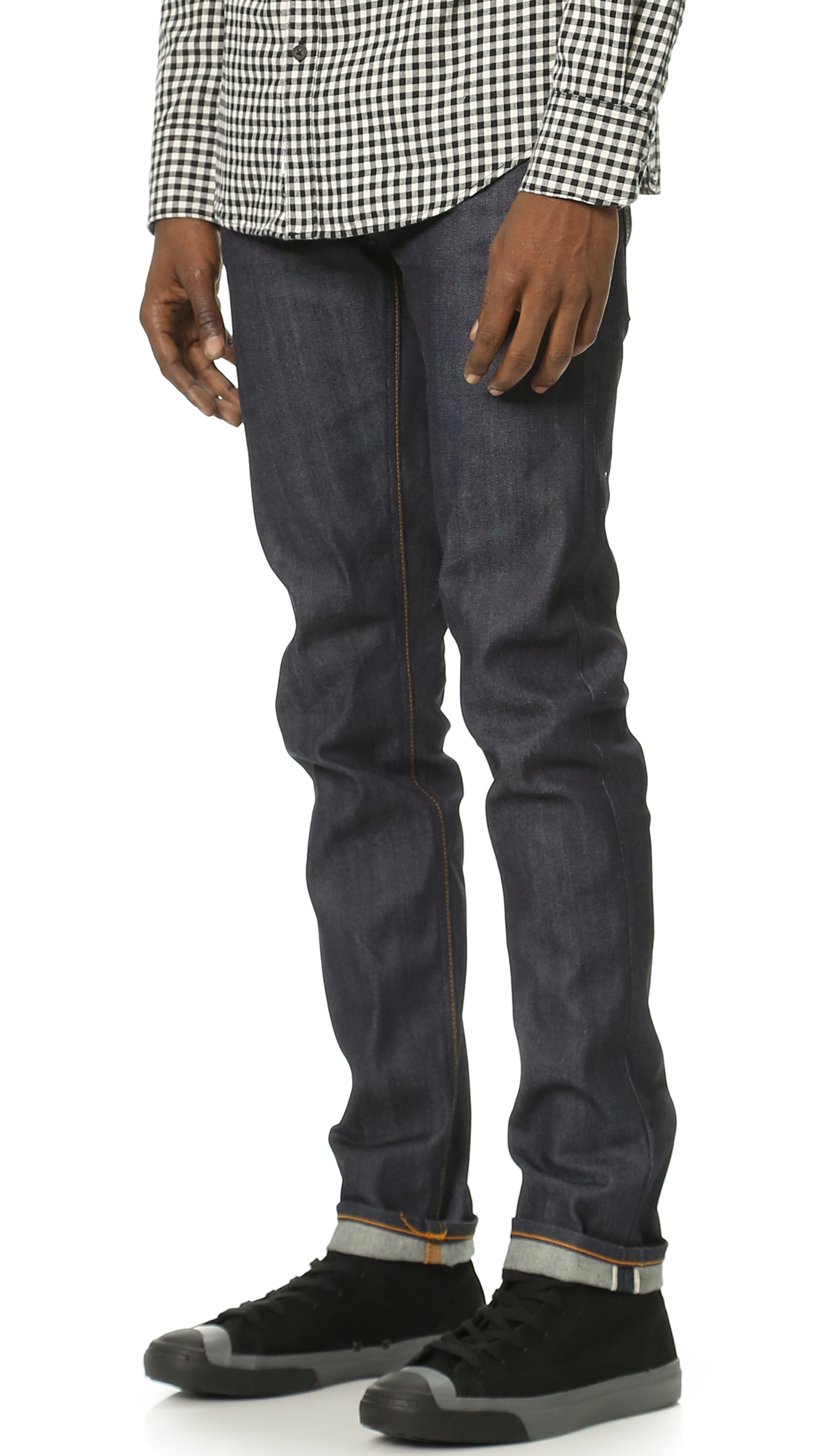 Nudie Jeans Denim Thin Finn Dry Selvage Jeans in Blue for Men