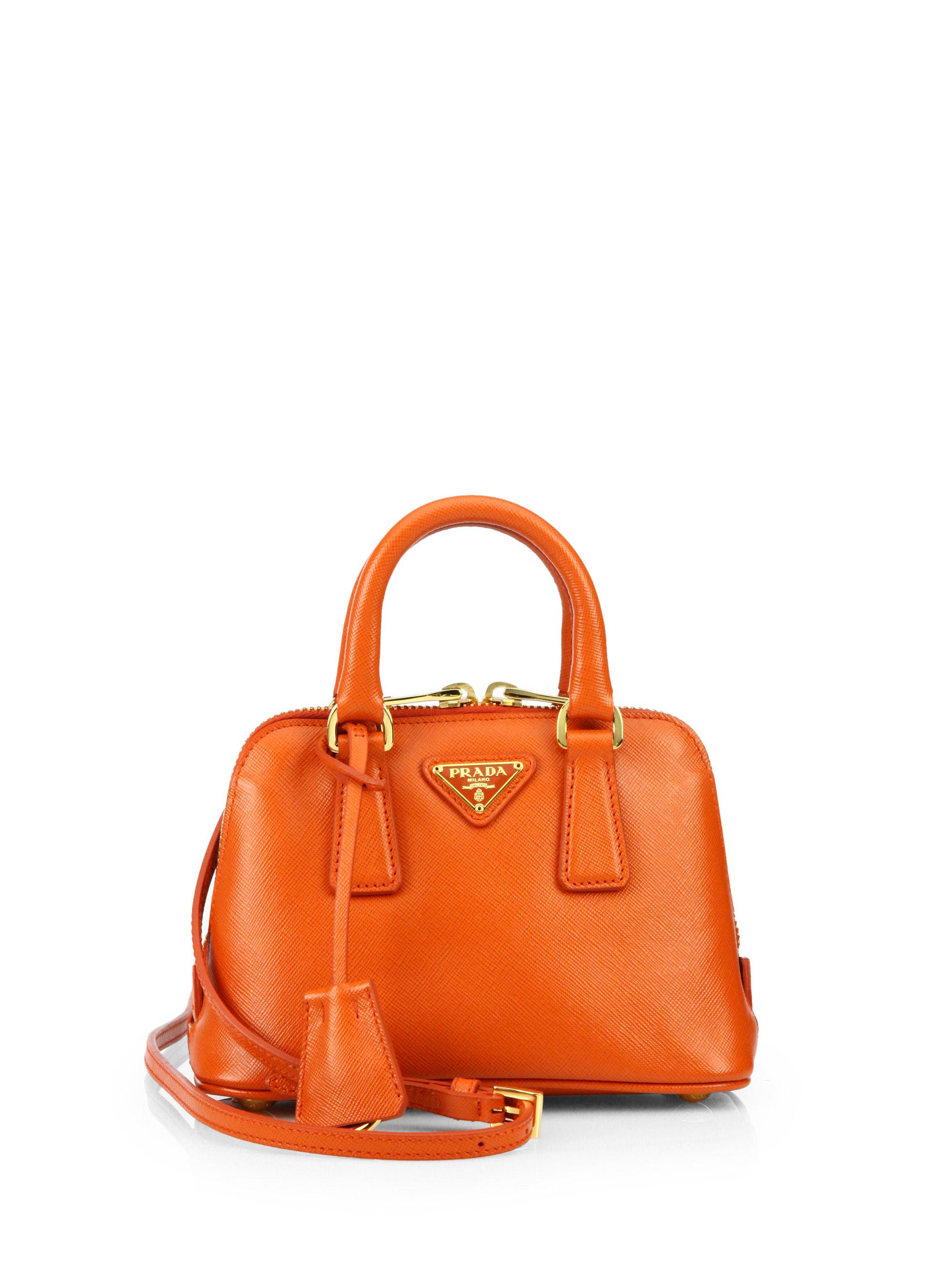 86f4f74143ba get lyst prada python chain bag 43576 db680  get lyst prada saffiano lux  double handle mini satchel in orange 6e7e0 d99c7