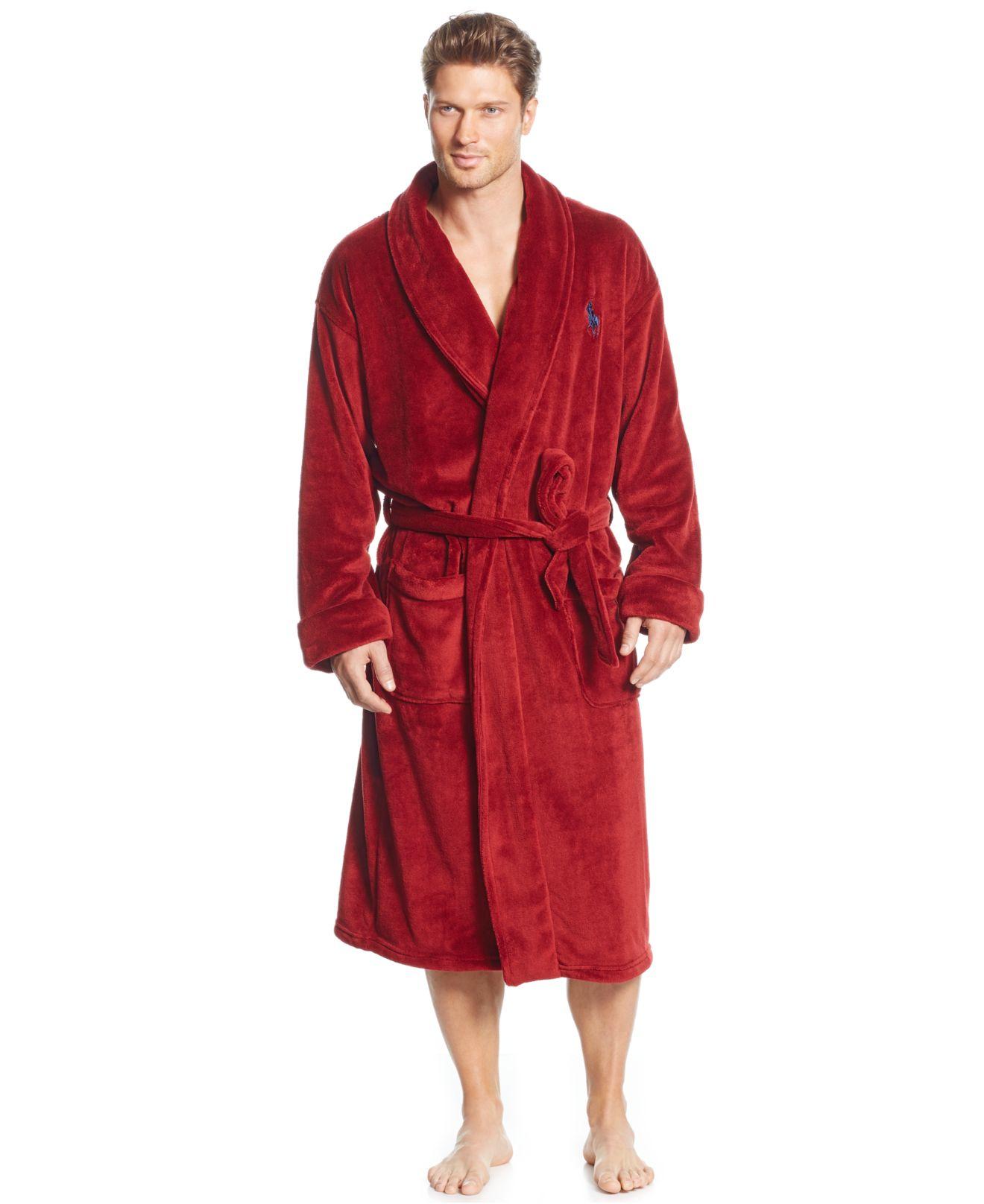 Lyst - Polo Ralph Lauren Terry Kimono Robe in Black for Men