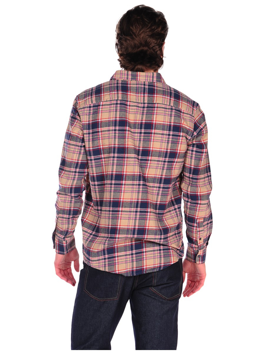 Cheap Monday Neo Check Flannel Button Down Shirt In Blue