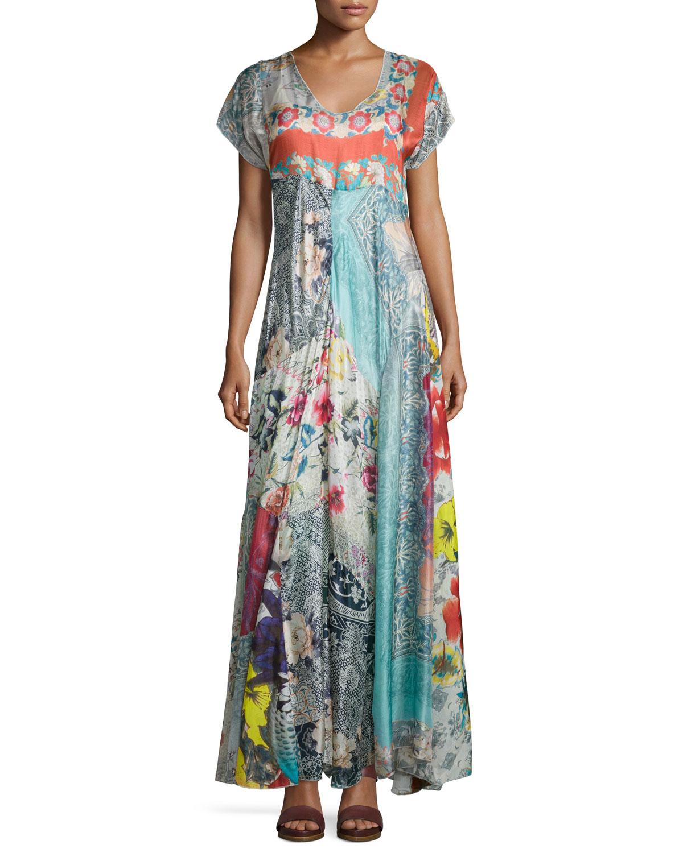 Lyst Johnny Was Lulu Floral Print Maxi Dress
