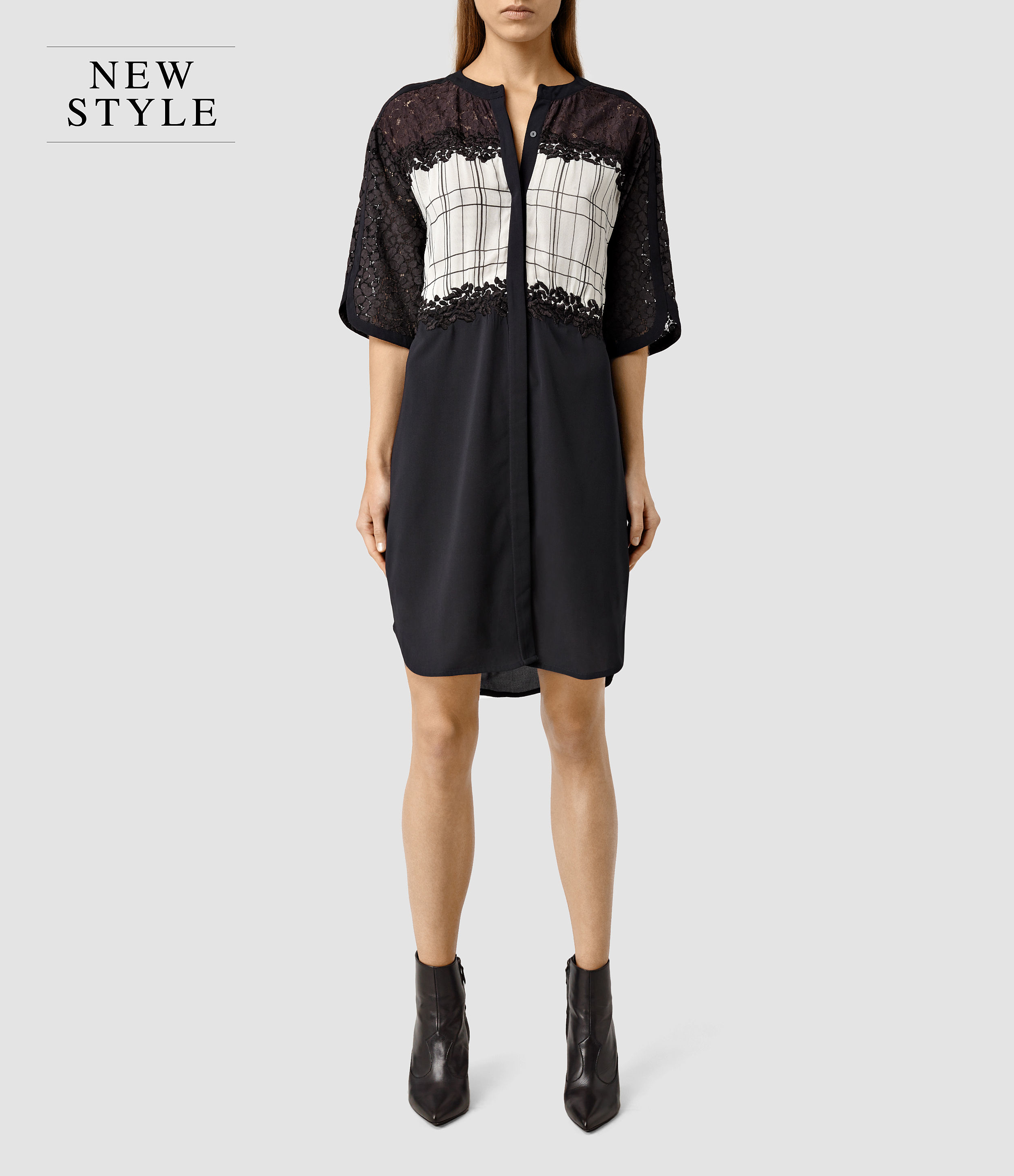 Allsaints Ifaneva Embroidered Dress In Purple  Lyst
