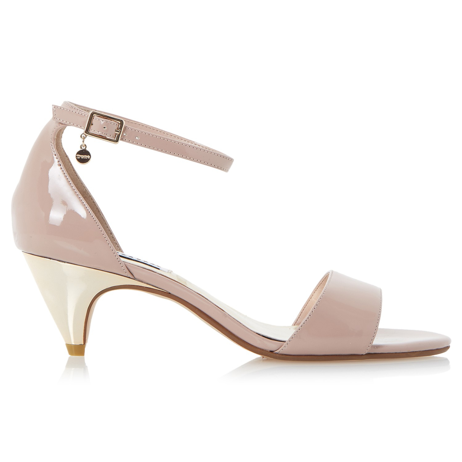 Lyst - Dune Marina Kitten Heel Two Part Sandals in Pink