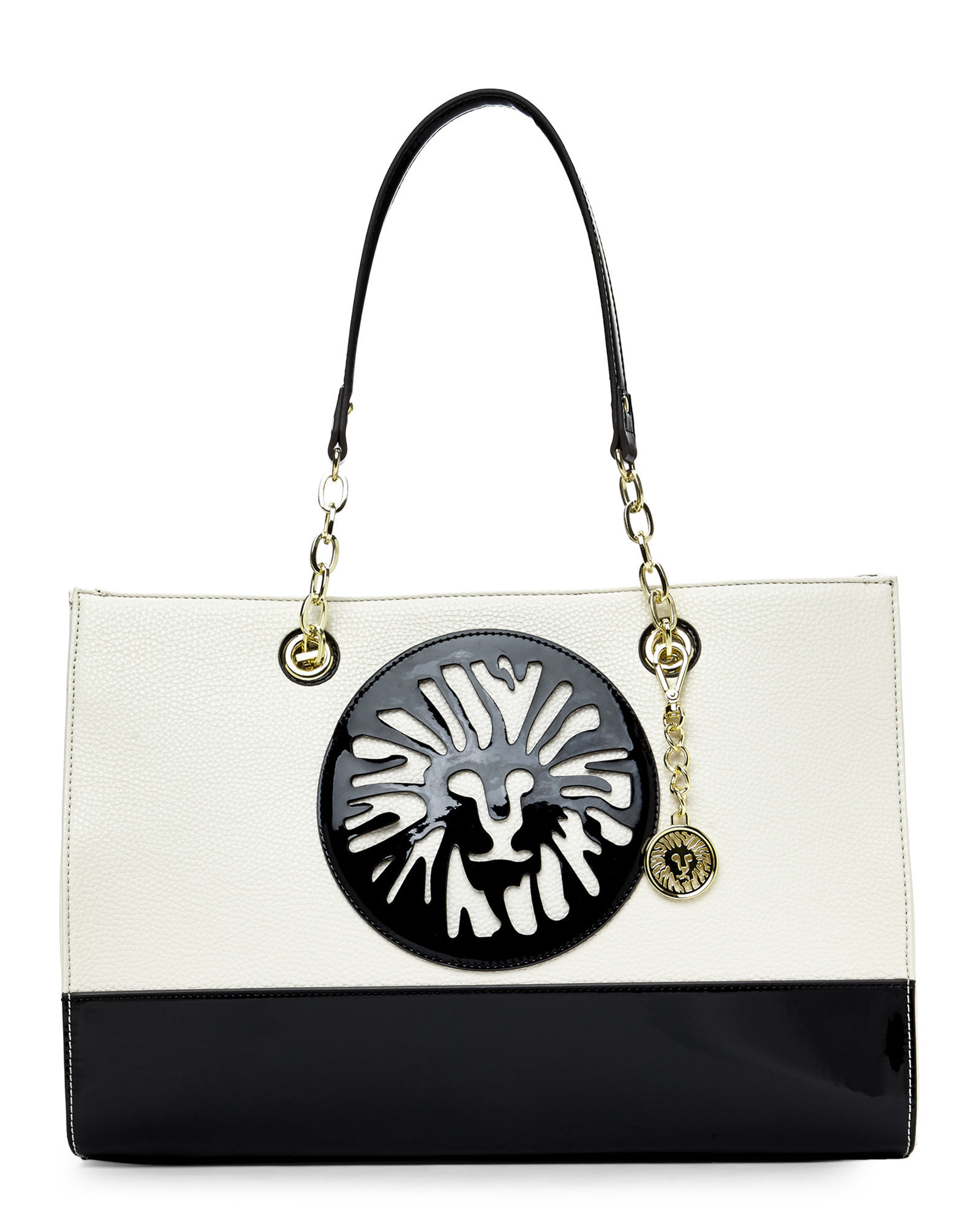 ef8db6388a Lyst - Anne Klein Sugar   Black Leo Legacy Tote in White