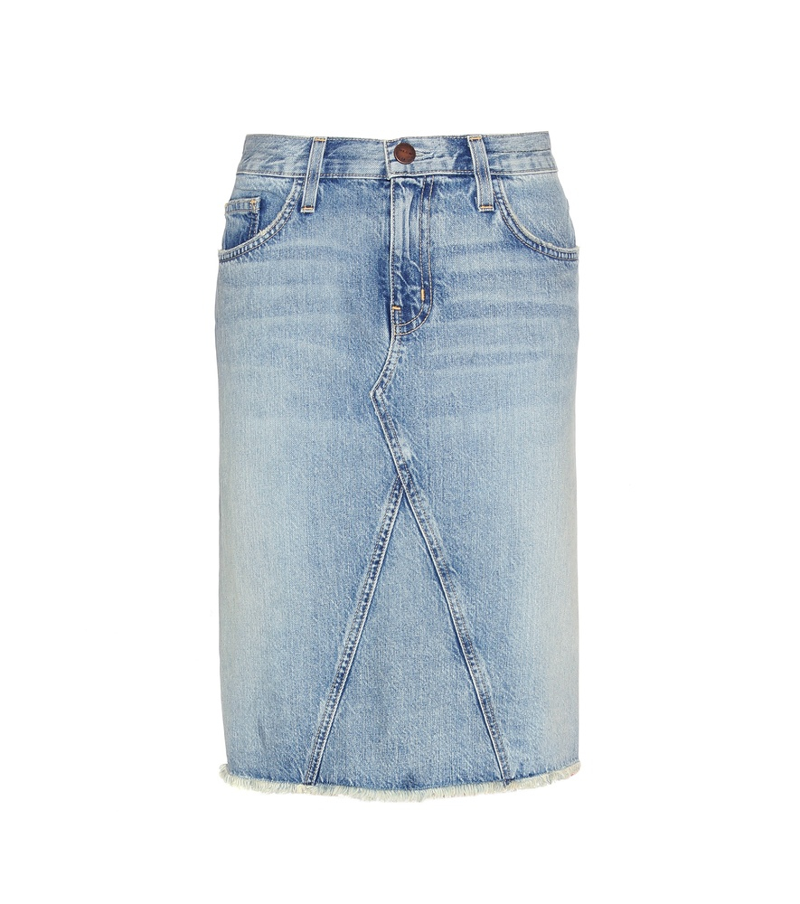 current elliott the reworked denim skirt in blue lyst