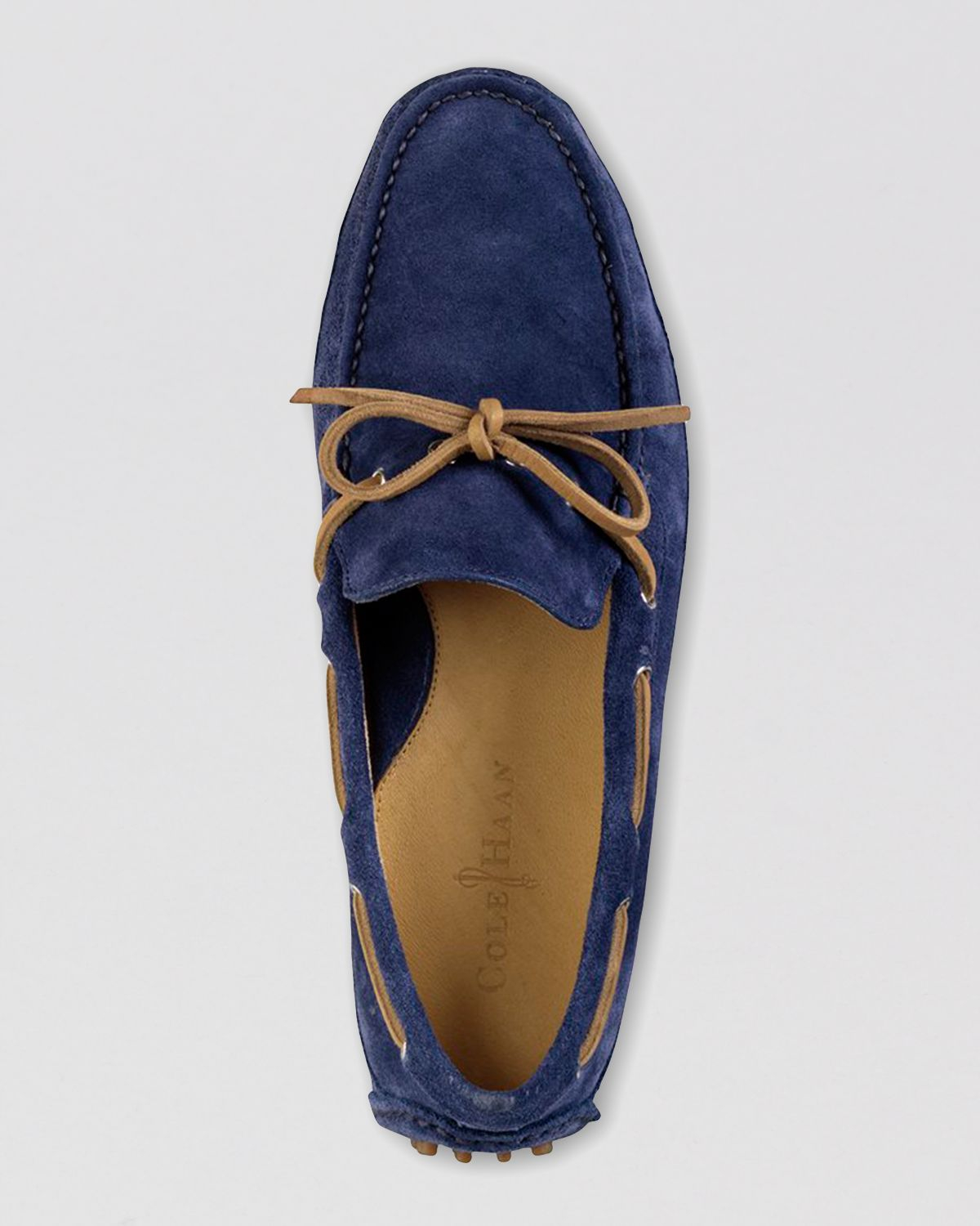 a13af88ef6981d Lyst - Cole Haan Grant Canoe Camp Suede Moc Driving Loafers in Blue ...