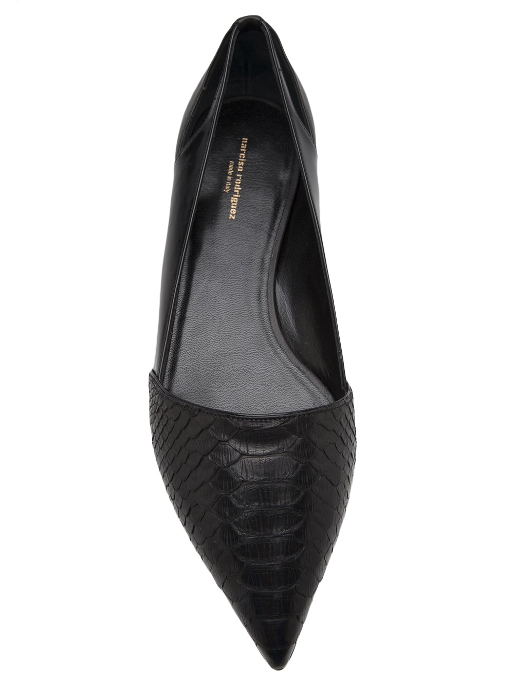 Narciso Rodriguez Pointed Toe Flat In Black Lyst