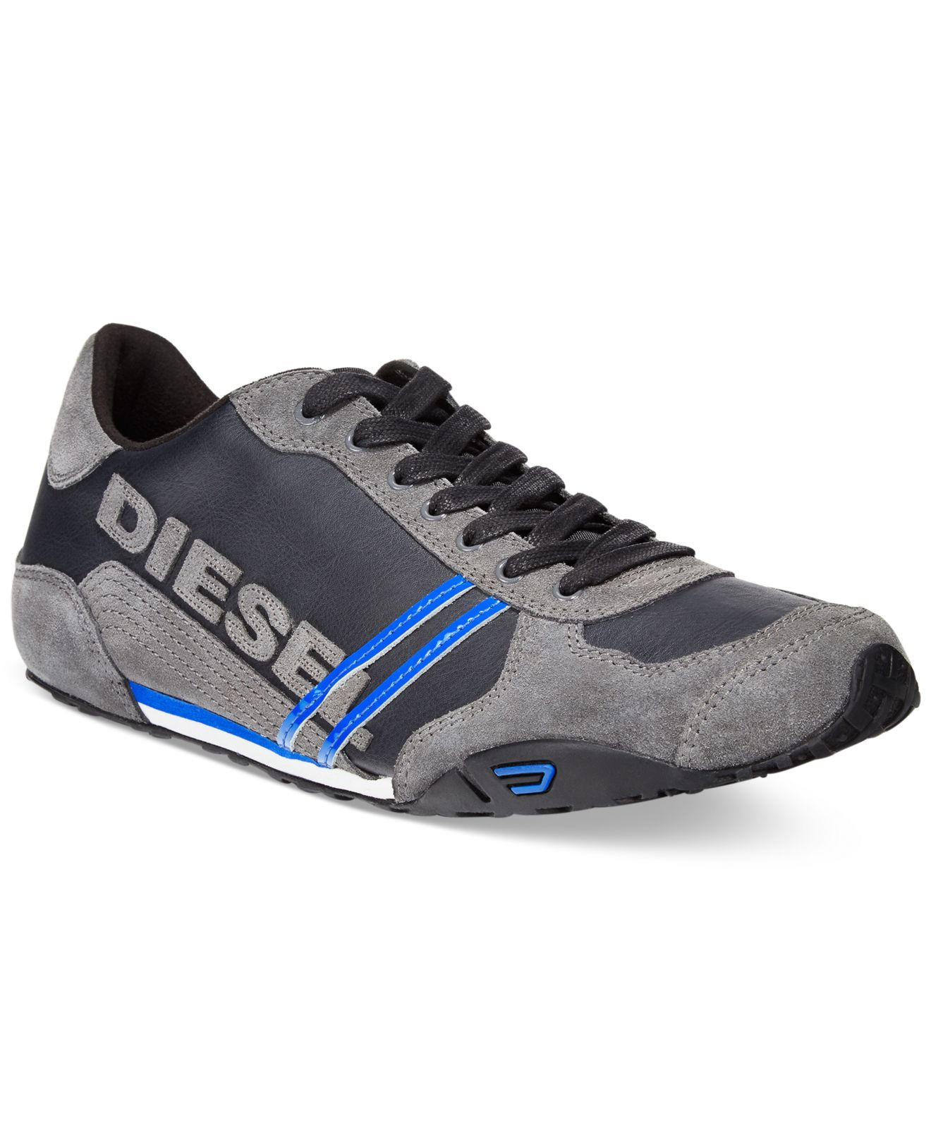 diesel harold solar sneakers in black for men lyst