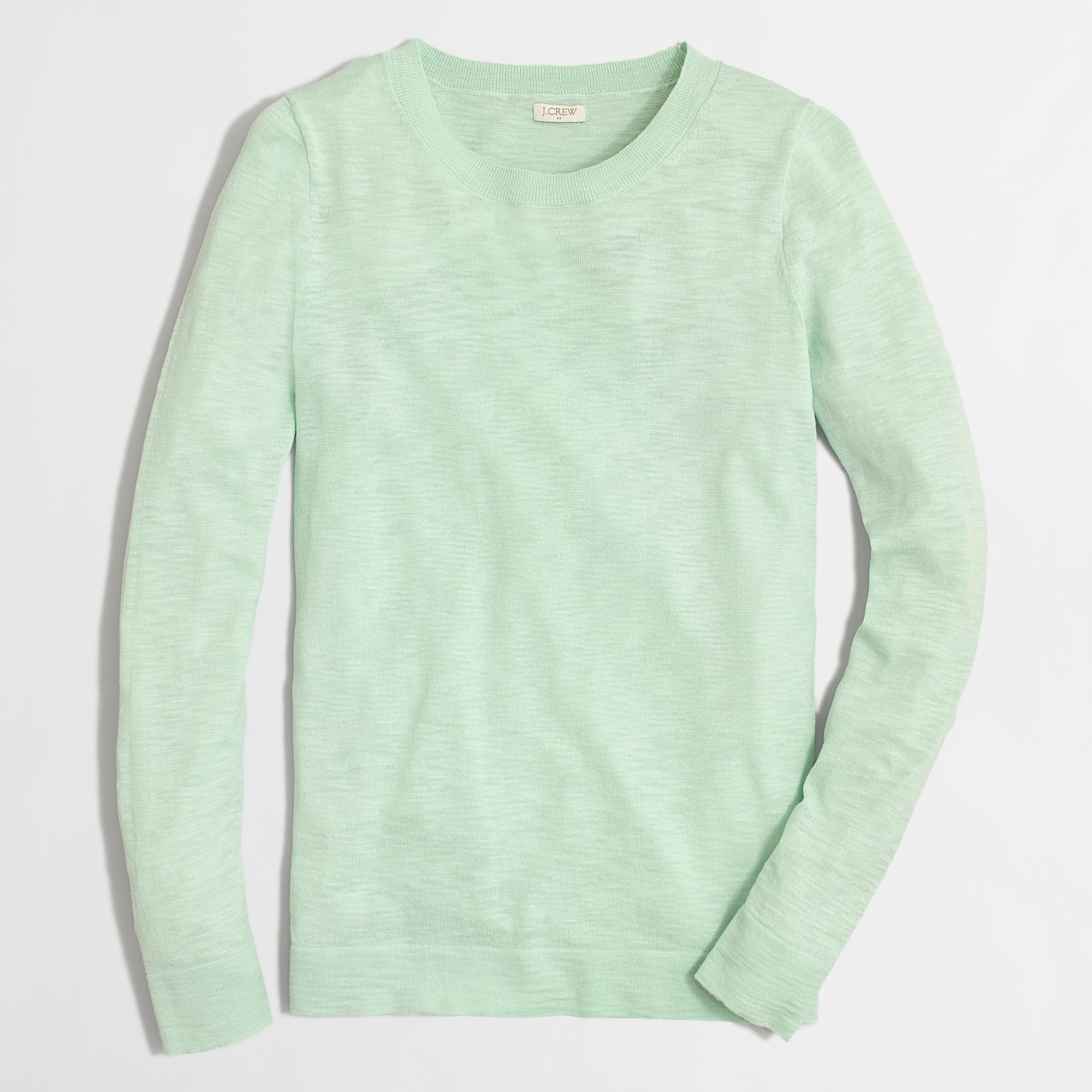 Lyst Jcrew Factory Teddie Sweater In Green