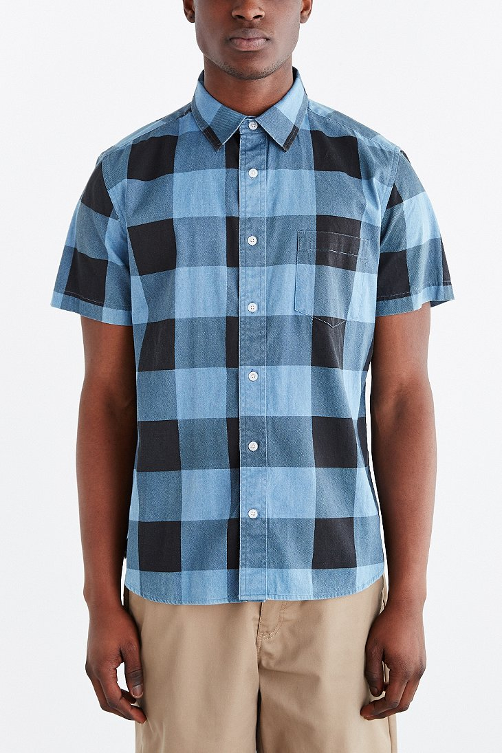 lyst cheap monday air short sleeve button down shirt in