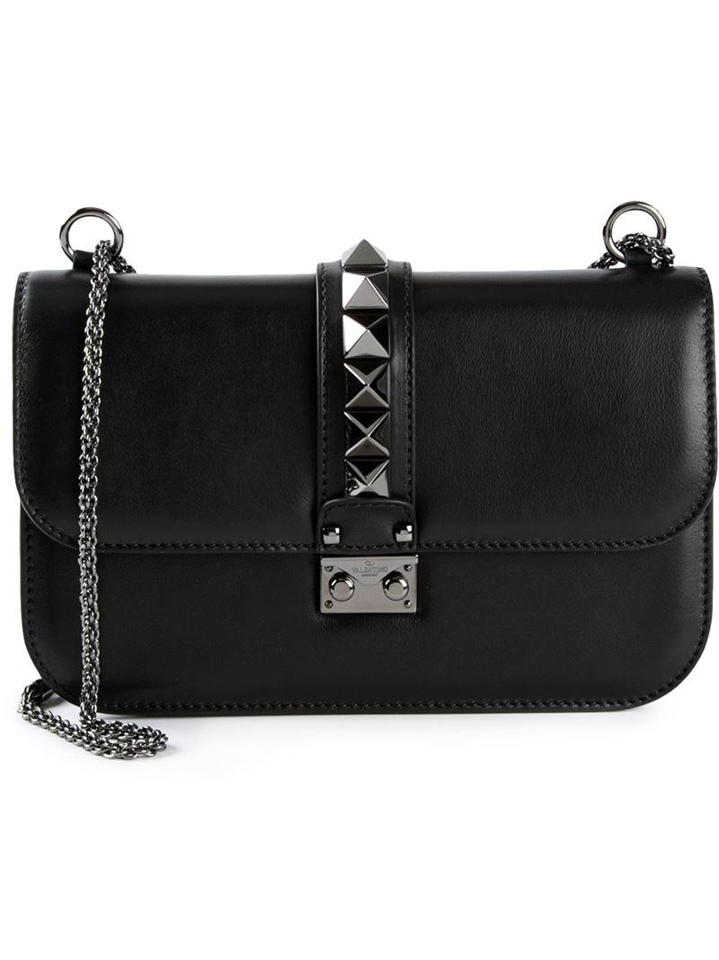 Lyst - Valentino 'glam Lock' Shoulder Bag in Blue