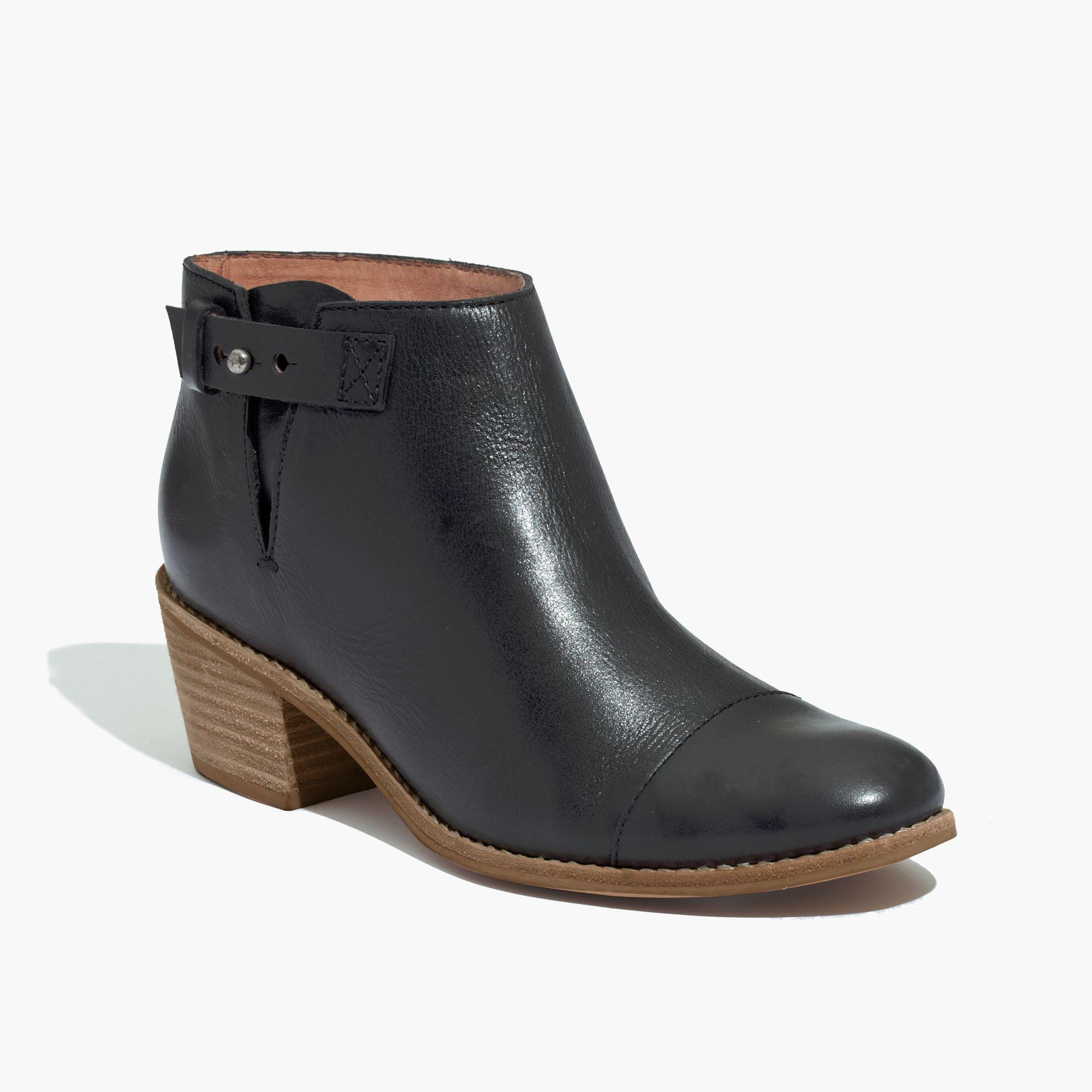 madewell the dakota cutoff boot in black lyst