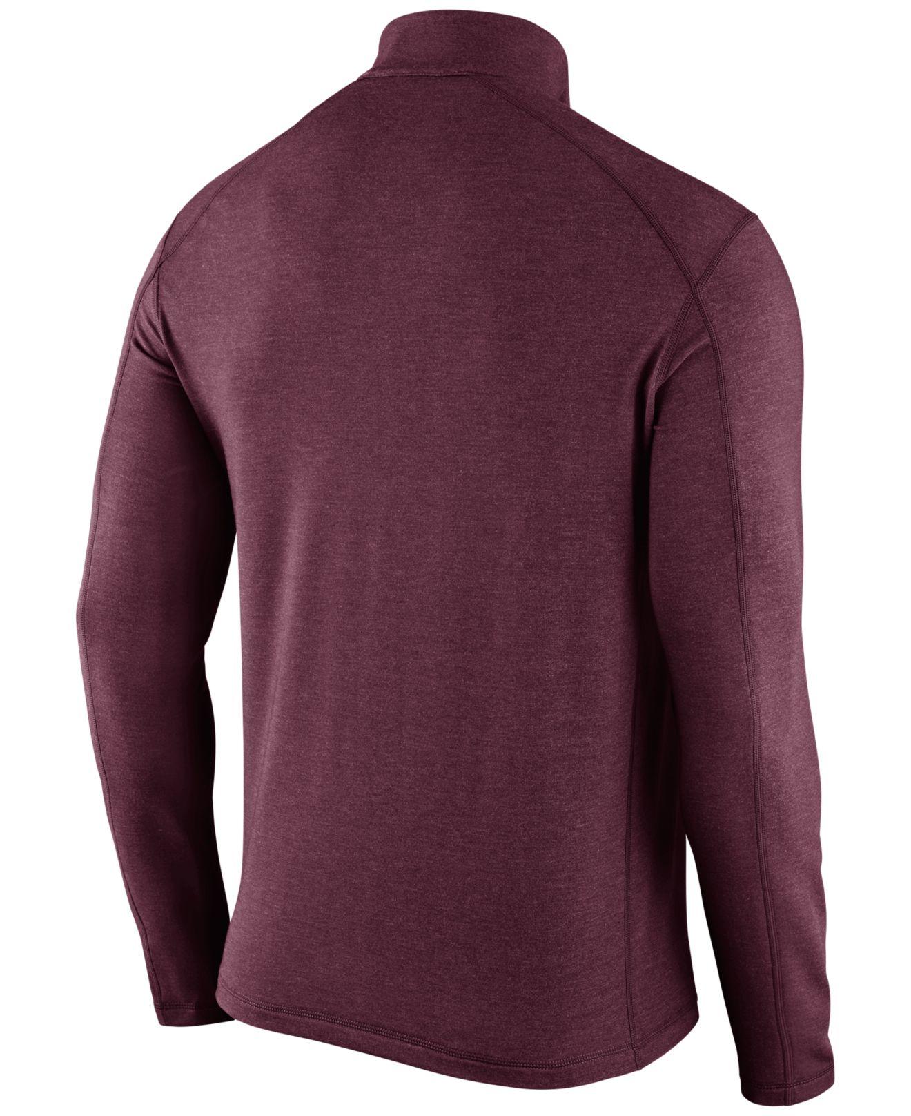 nike men 39 s minnesota golden gophers game day quarter zip pullover in purple for men lyst. Black Bedroom Furniture Sets. Home Design Ideas