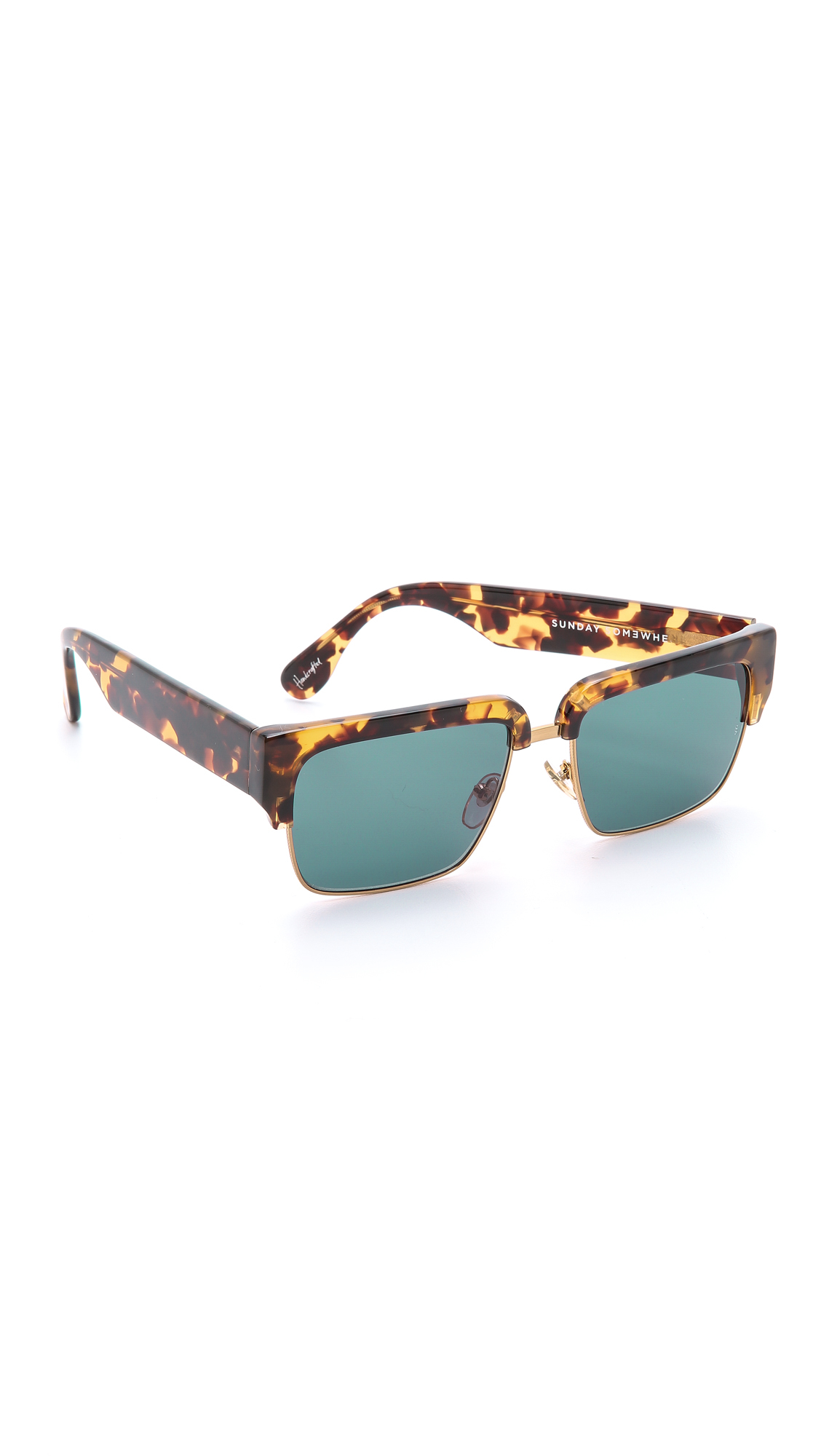 Sunday Somewhere Little God Sunglasses - Black/dark Grey in Brown