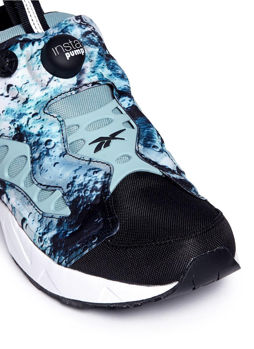 Reebok Rubber 'instapump Fury Road Sg' Slip-on Sneakers in Blue