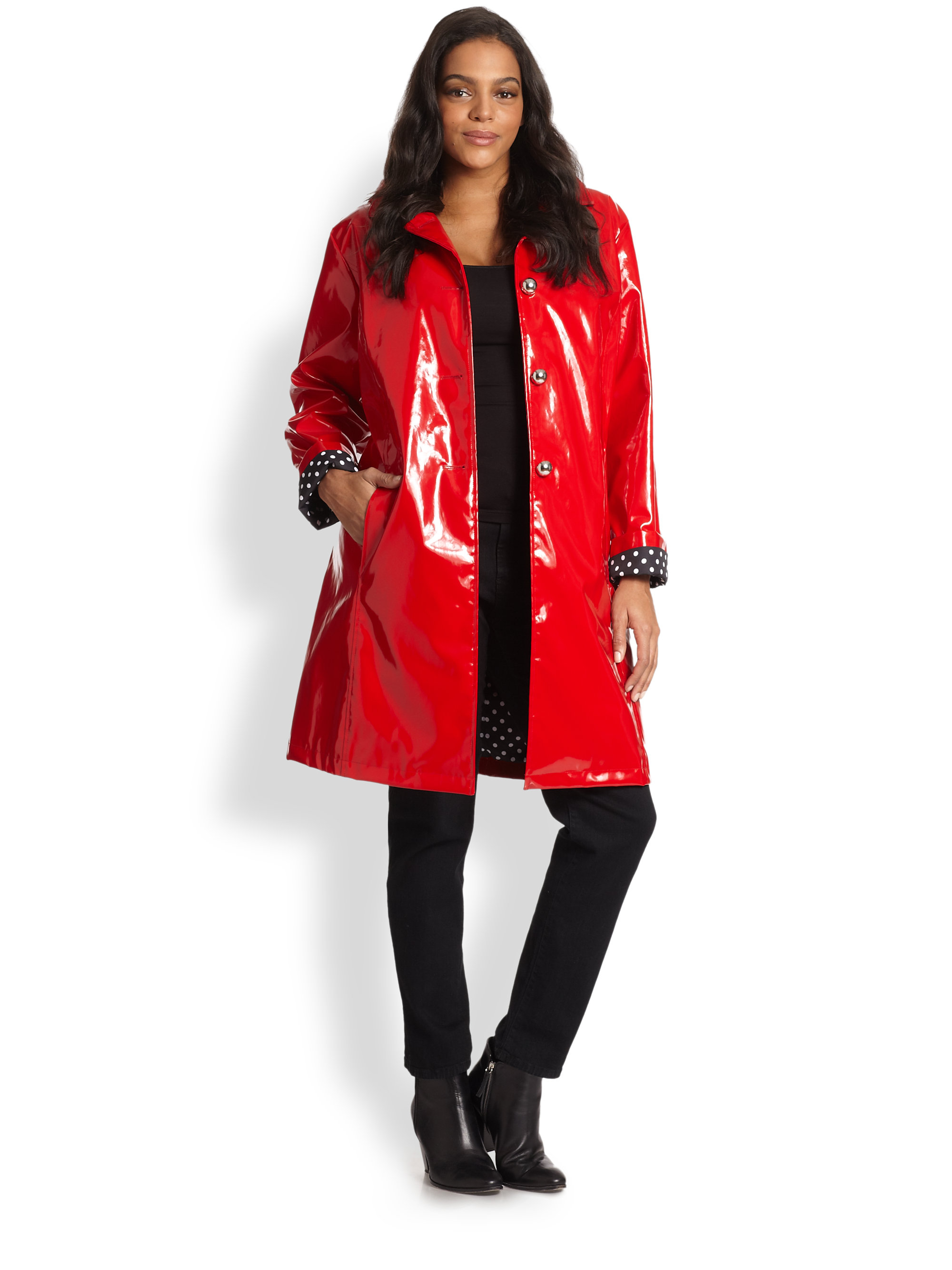 Lyst Jane Post Princess Slicker In Red