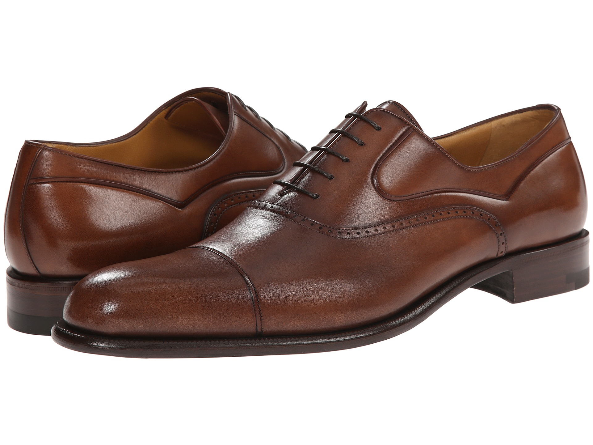 A Testoni Oxford Shoes Washed Calf Leather