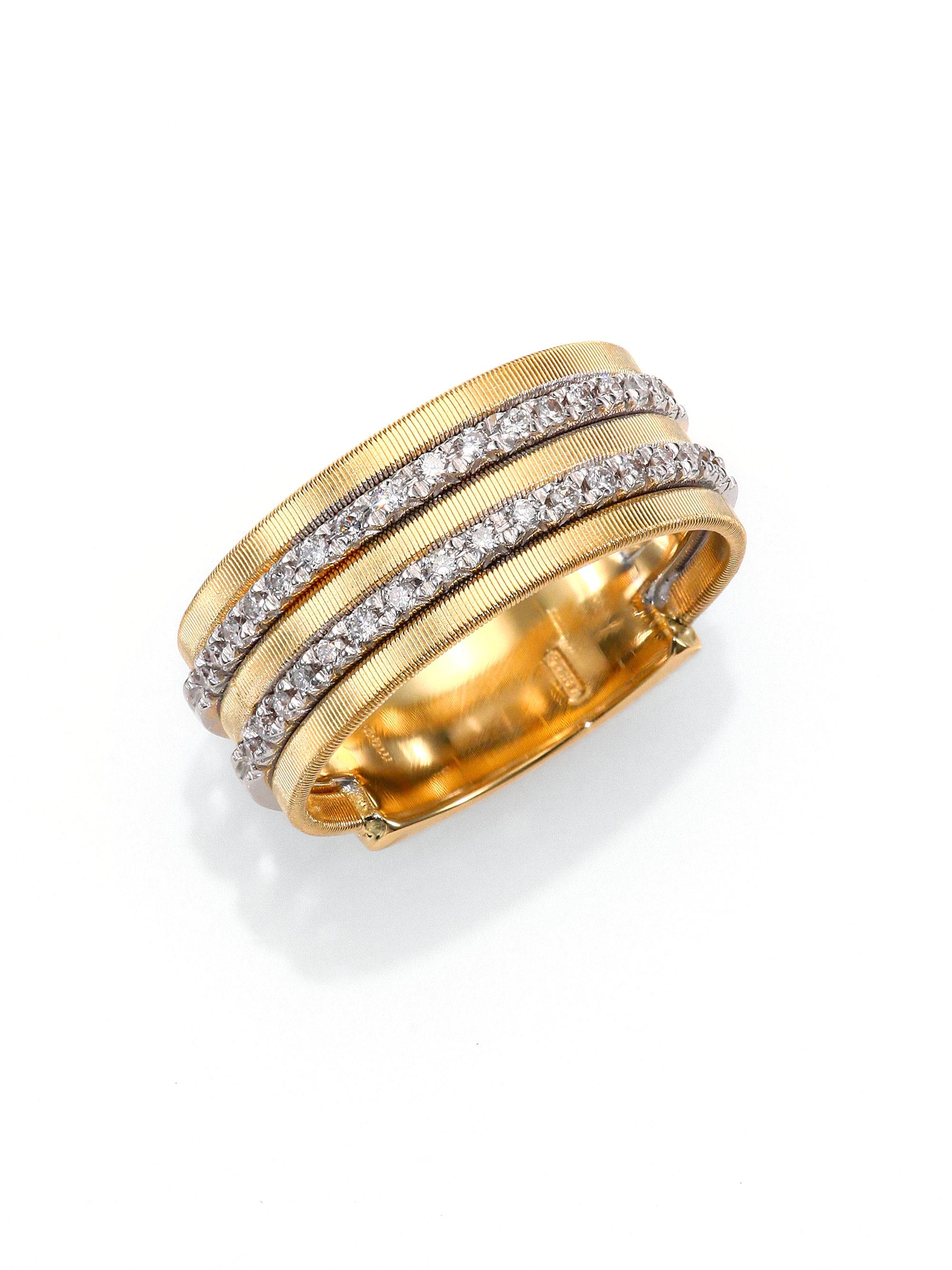 2360a6a12 Marco Bicego Goa Diamond, 18K White & Yellow Gold Five-Row Band Ring ...
