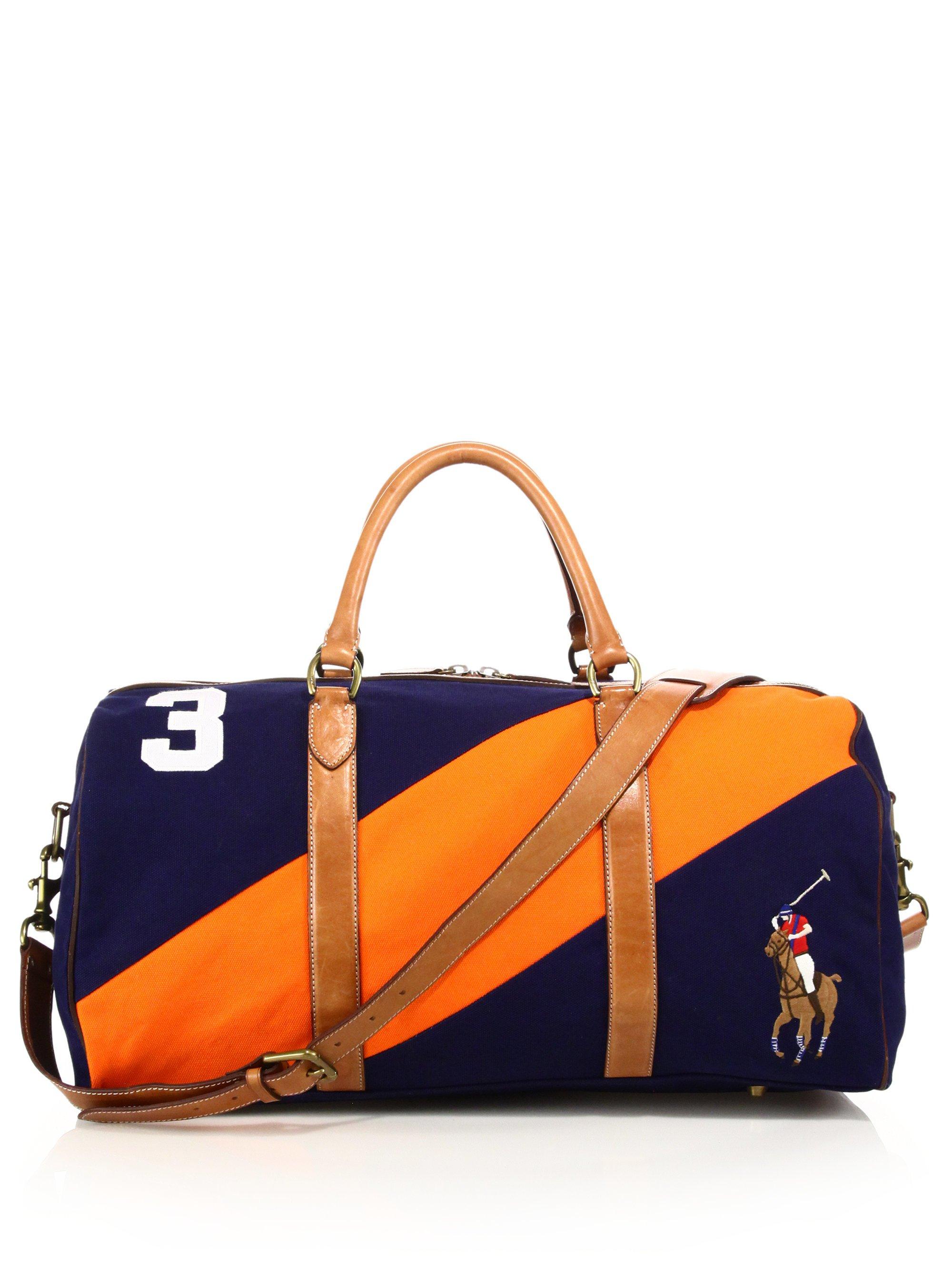 03d977130cbd ... closeout ralph lauren polo green blue duffle weekend bag fed91 2259d