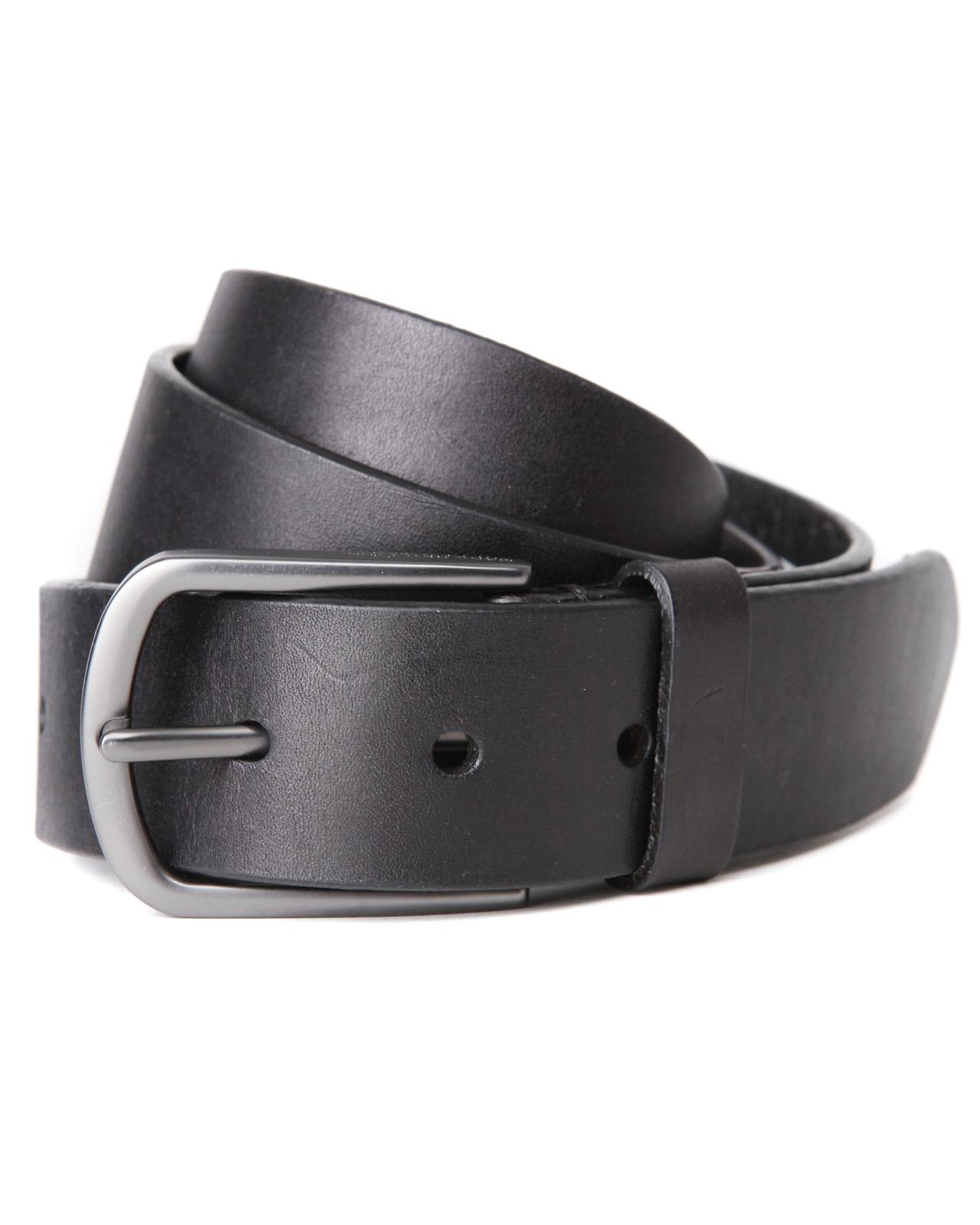 marc new york black 1 1 2 quot leather belt for lyst