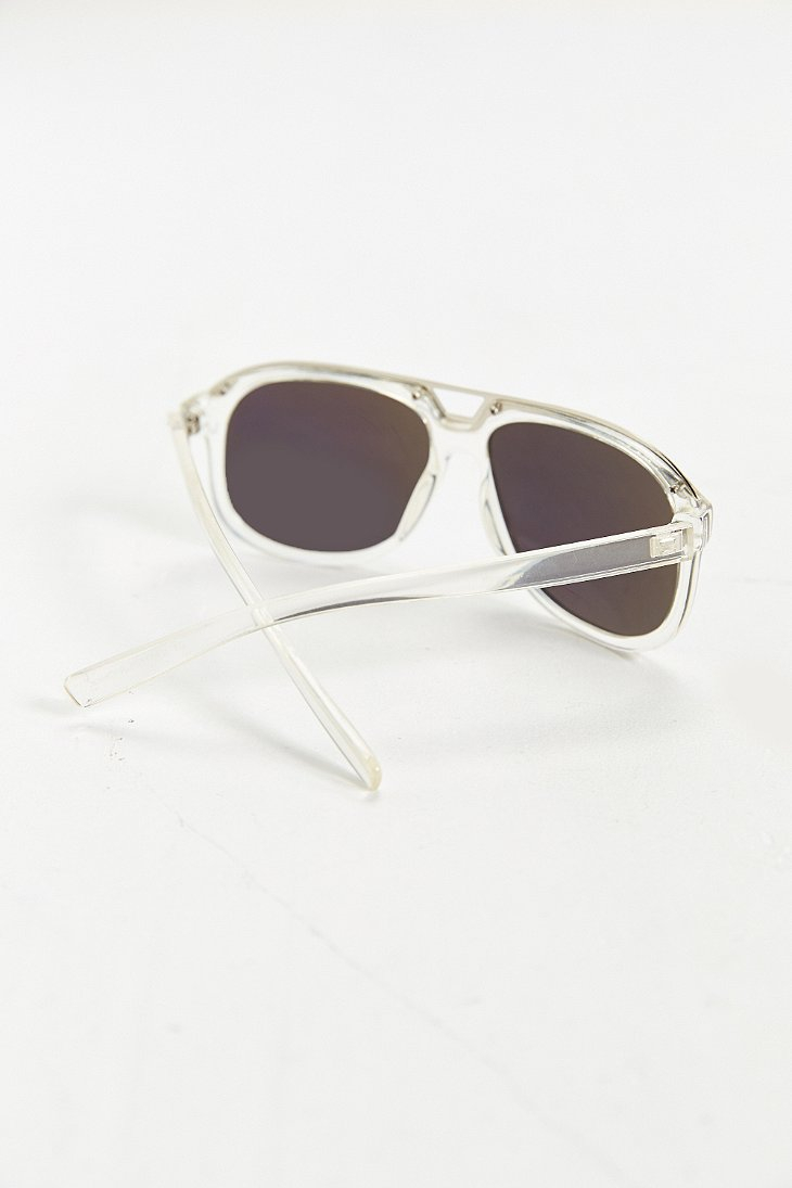0147d61791f Lyst - Urban Outfitters Translucent Aviator Sunglasses in Blue for Men