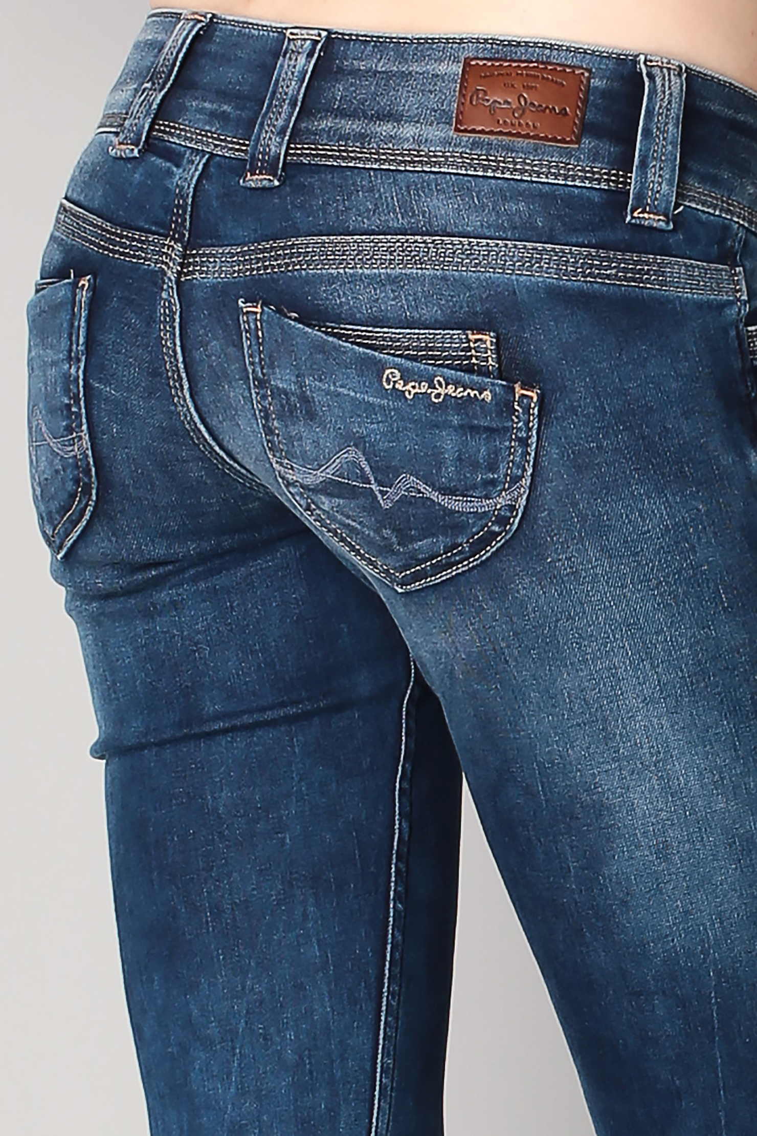 pepe jeans regular straight in blue lyst. Black Bedroom Furniture Sets. Home Design Ideas