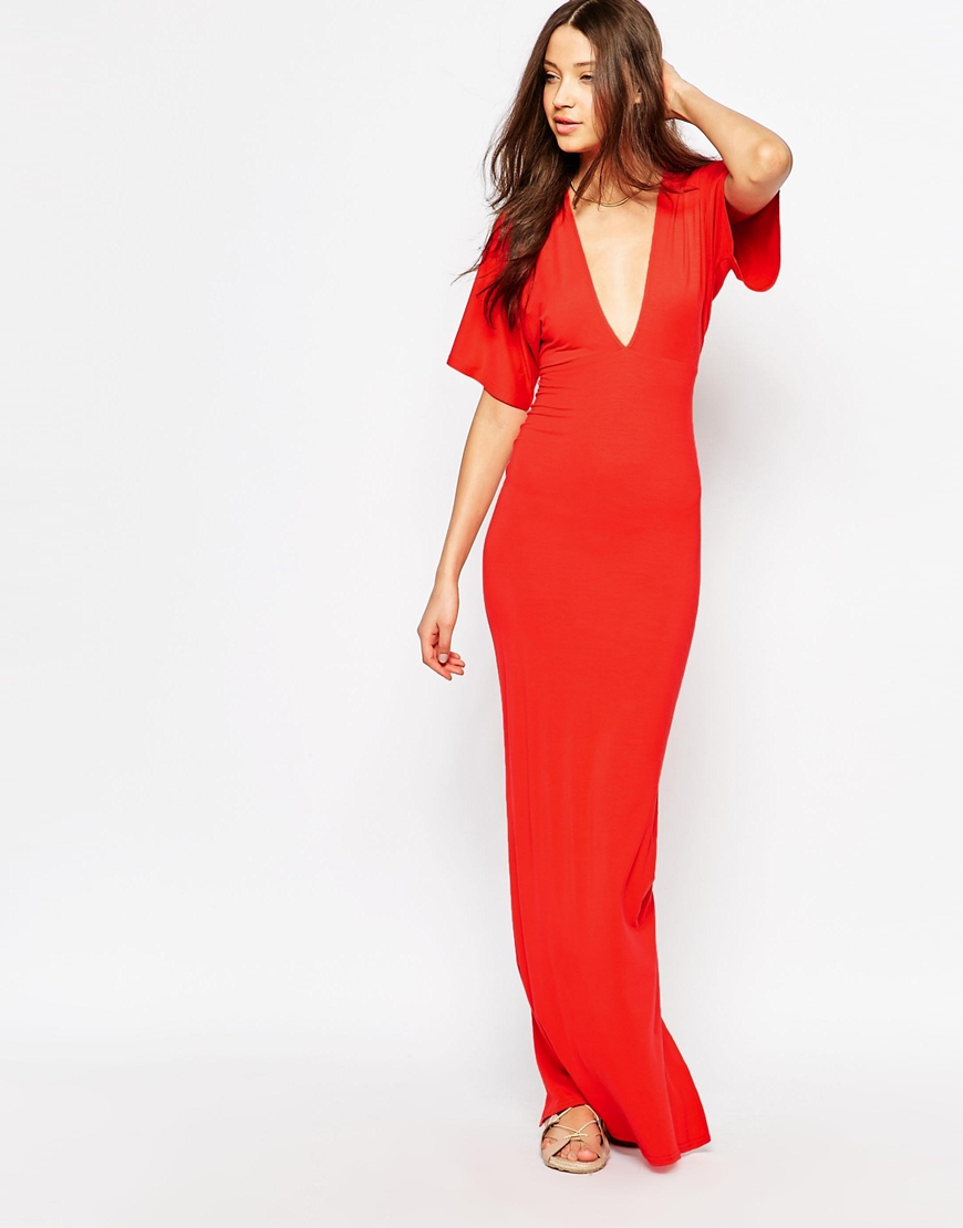 Knitted Bodycon Dress Red