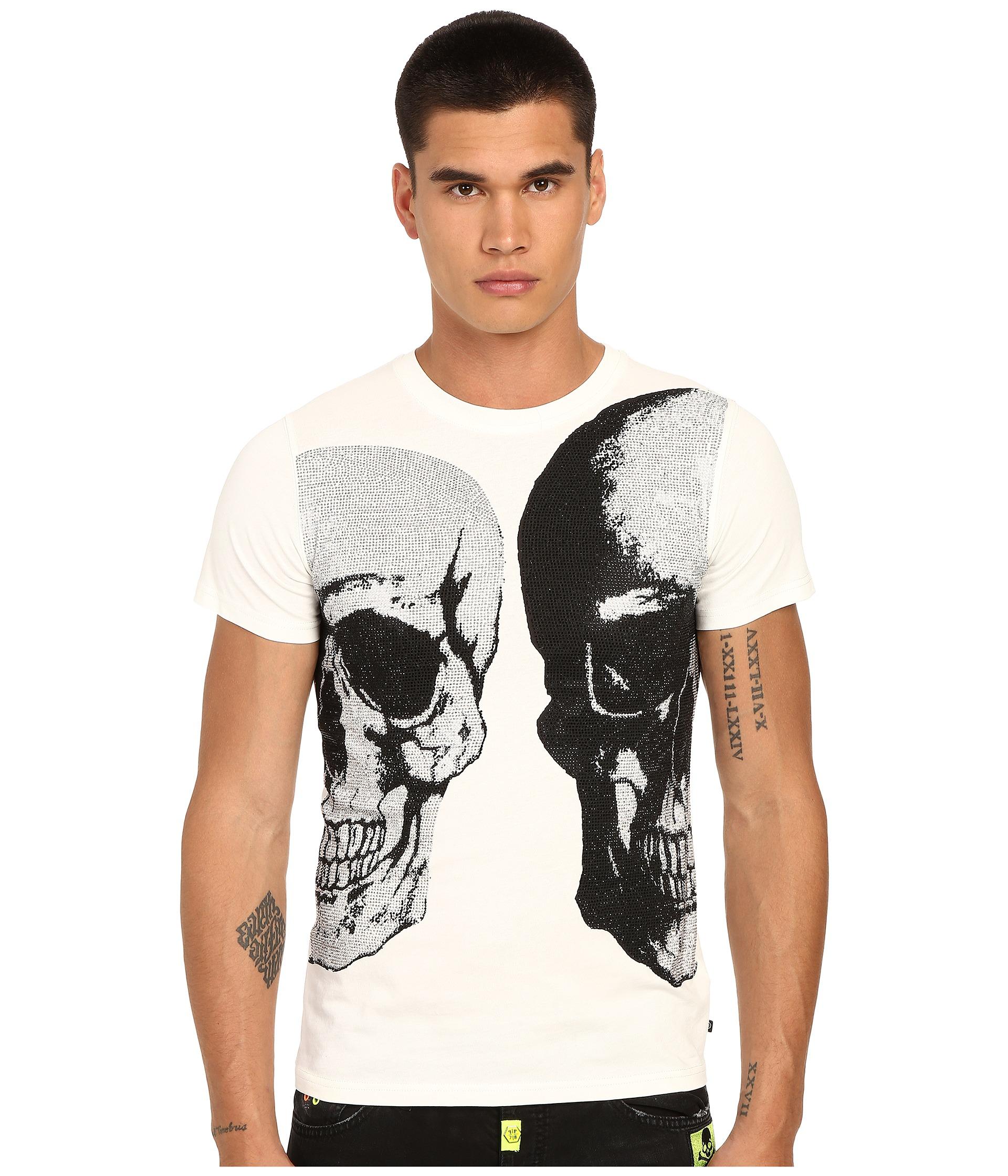 lyst philipp plein bipolar t shirt in white for men. Black Bedroom Furniture Sets. Home Design Ideas
