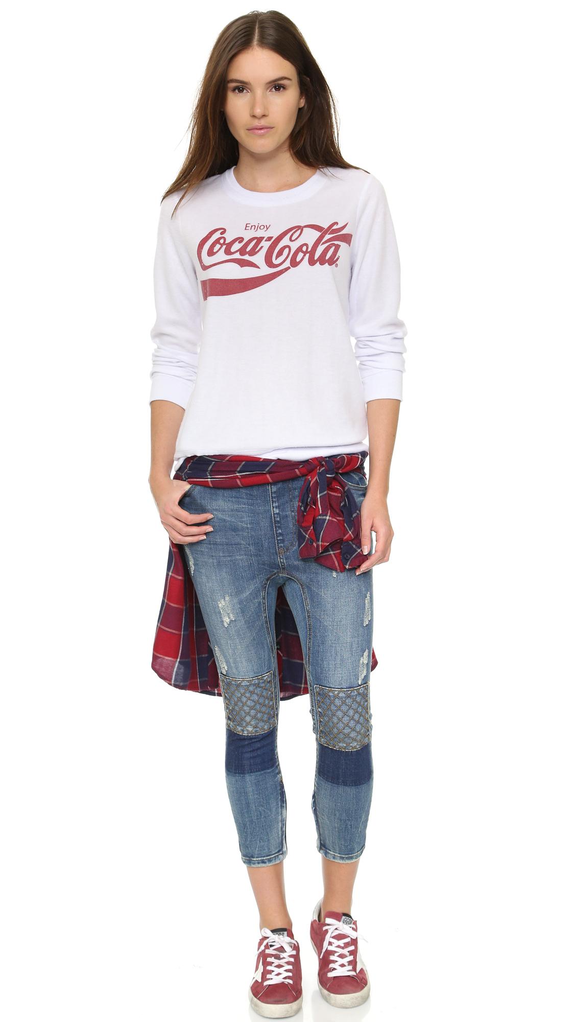 Chaser Vintage Coca-cola Sweatshirt in White