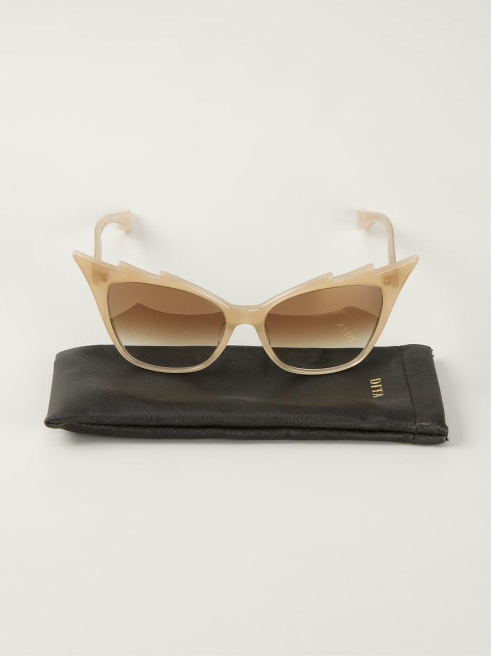 Dita Eyewear 'Hurricane' Sunglasses in Natural