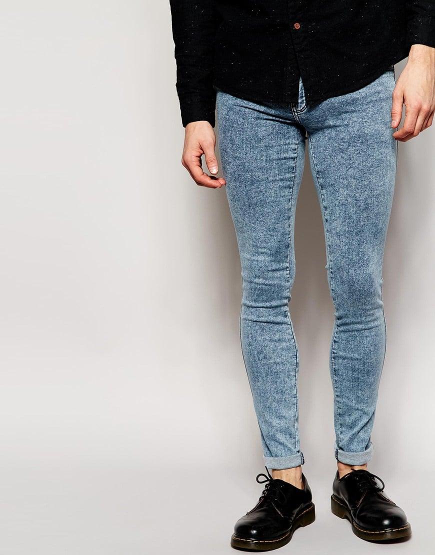 Dr. denim Jeans Kissy Low Spray On Extreme Super Skinny Blue Acid ...