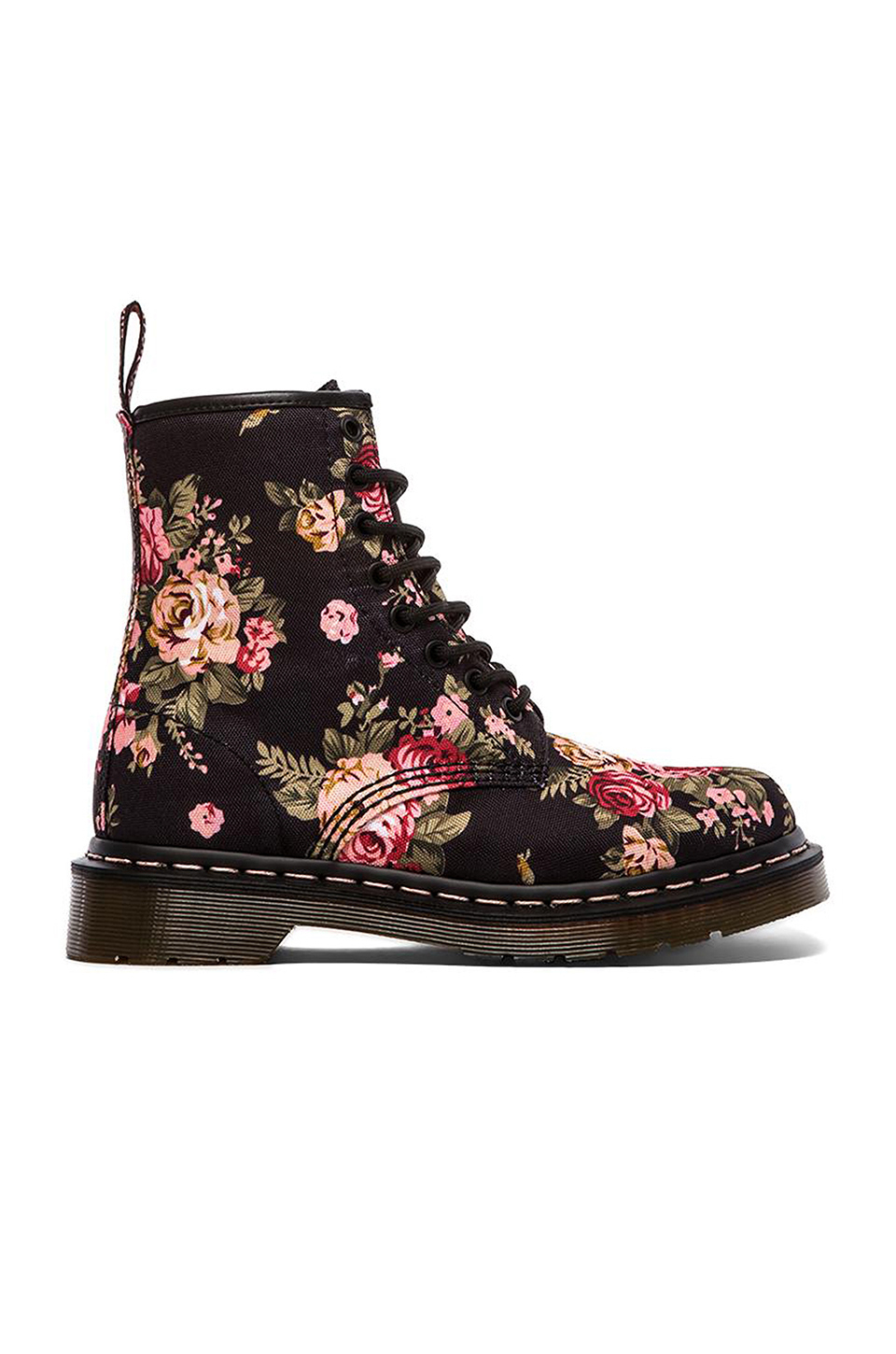 Dr Martens Canvas Print 8 Eye Boot In Black Lyst