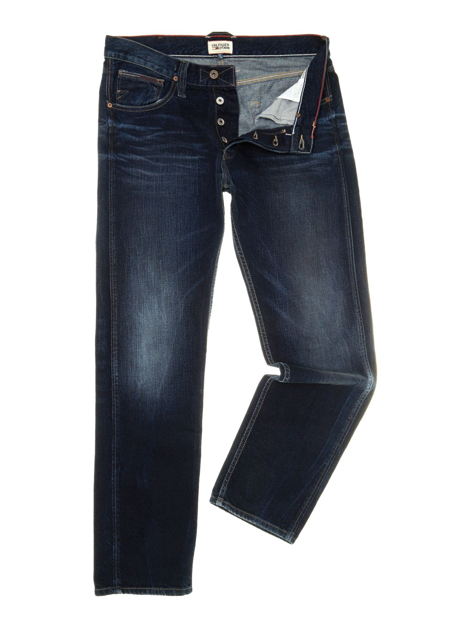tommy hilfiger straight fit bootcut jeans in blue for men lyst. Black Bedroom Furniture Sets. Home Design Ideas