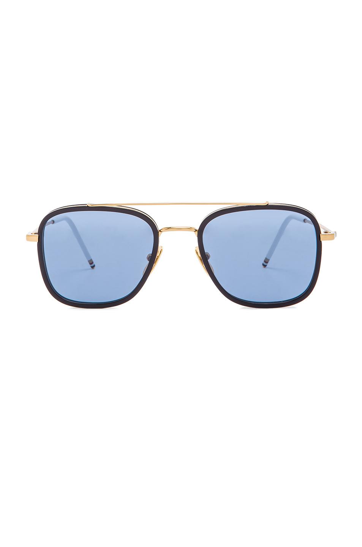 b85c647d447 Lyst - Thom Browne Men S Square Frame Sunglasses in Metallic