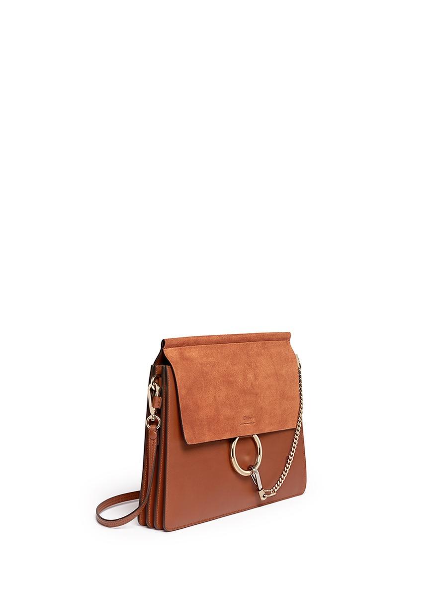 Chlo¨¦ \u0026#39;faye\u0026#39; Medium Accordion Leather Combo Bag in Brown | Lyst