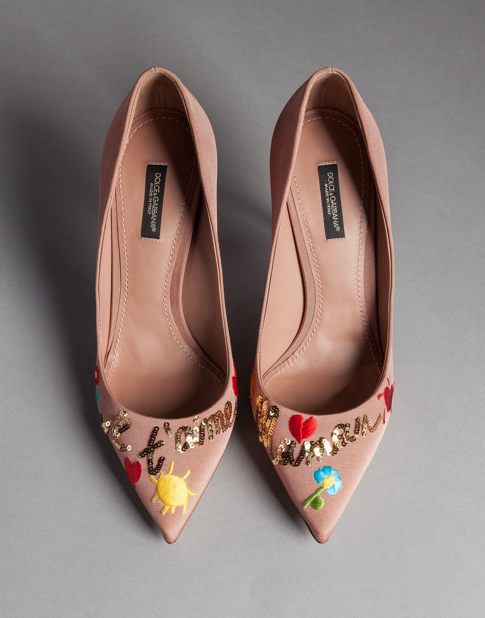 Embroidered Court Shoes