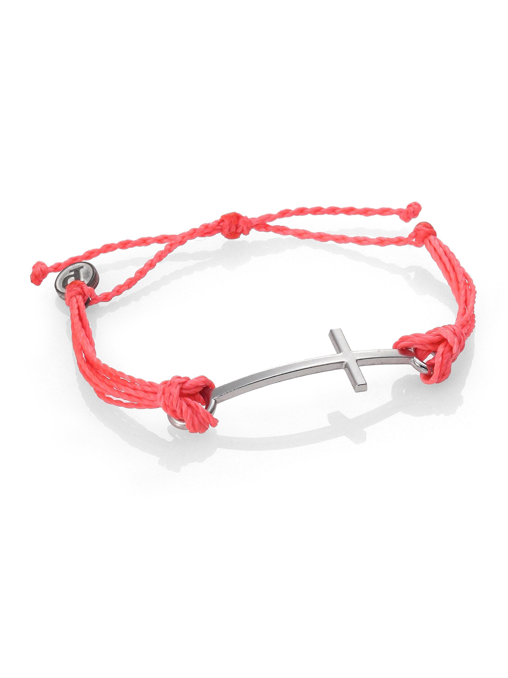 Pura Vida Cross Bracelet In Red Lyst