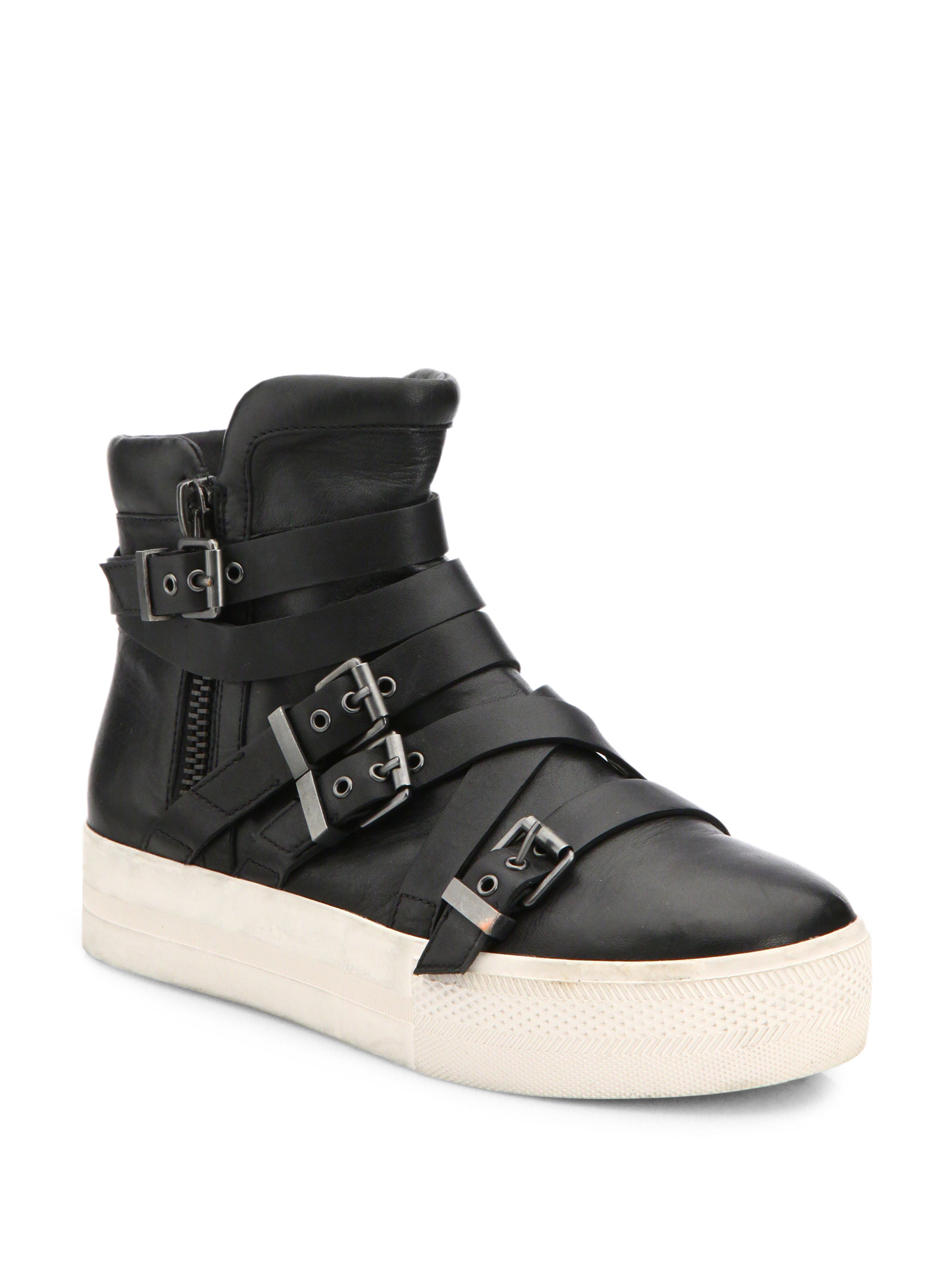 df3788e6401a Lyst - Ash Dae Leather High-top Sneakers in Black
