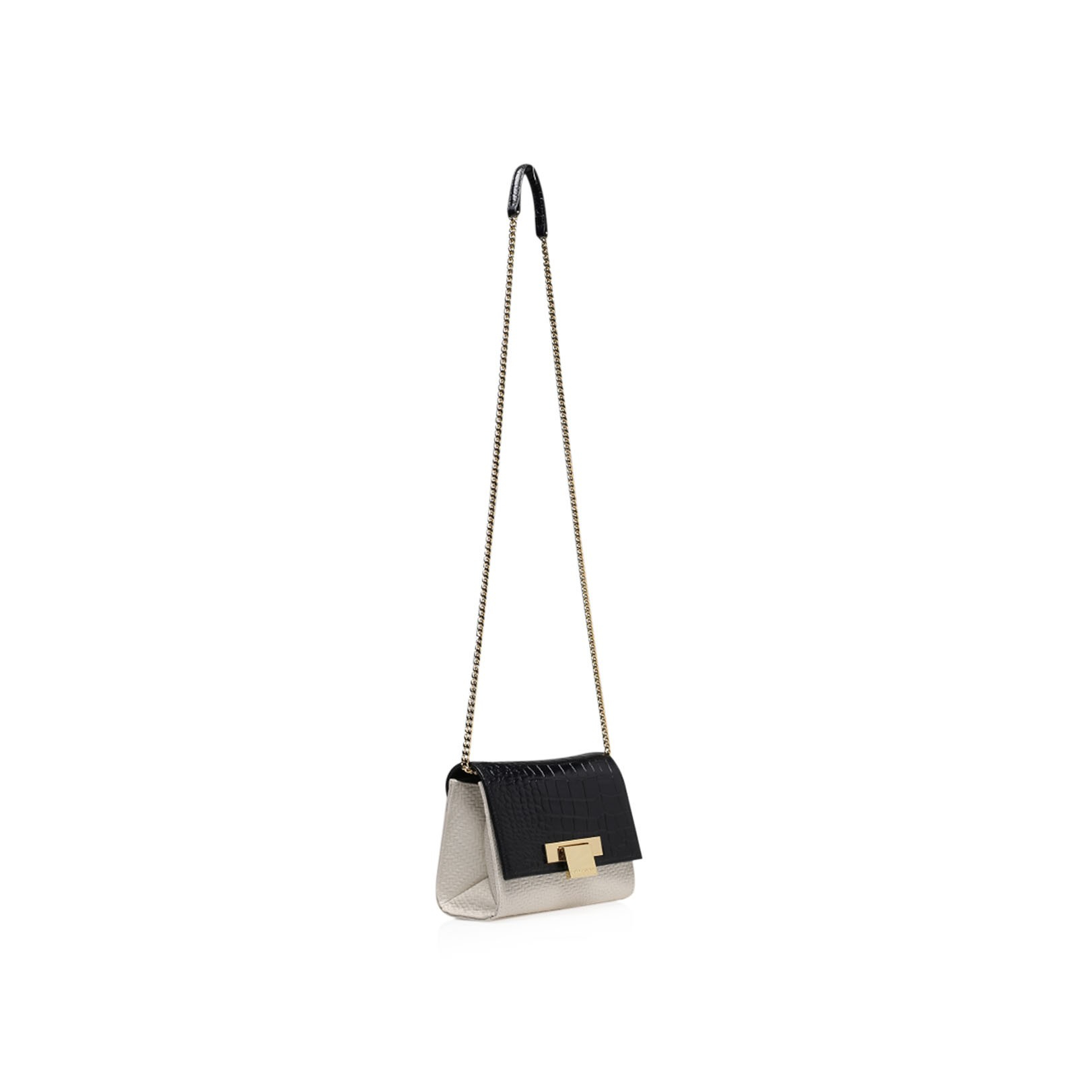 Kurt Geiger Leather Woven Annie Cross Body Bag in Black