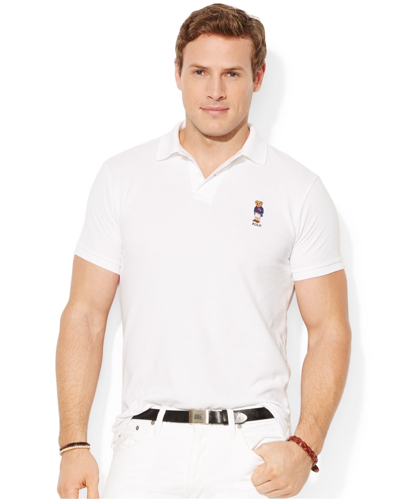 33a1d4bb476a Lyst - Polo Ralph Lauren Big And Tall Classic-Fit Polo Bear Mesh ...