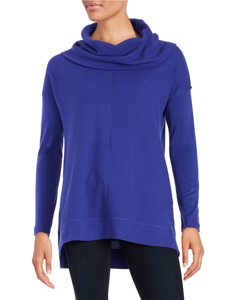 calvin klein cowl neck pullover in blue lyst. Black Bedroom Furniture Sets. Home Design Ideas