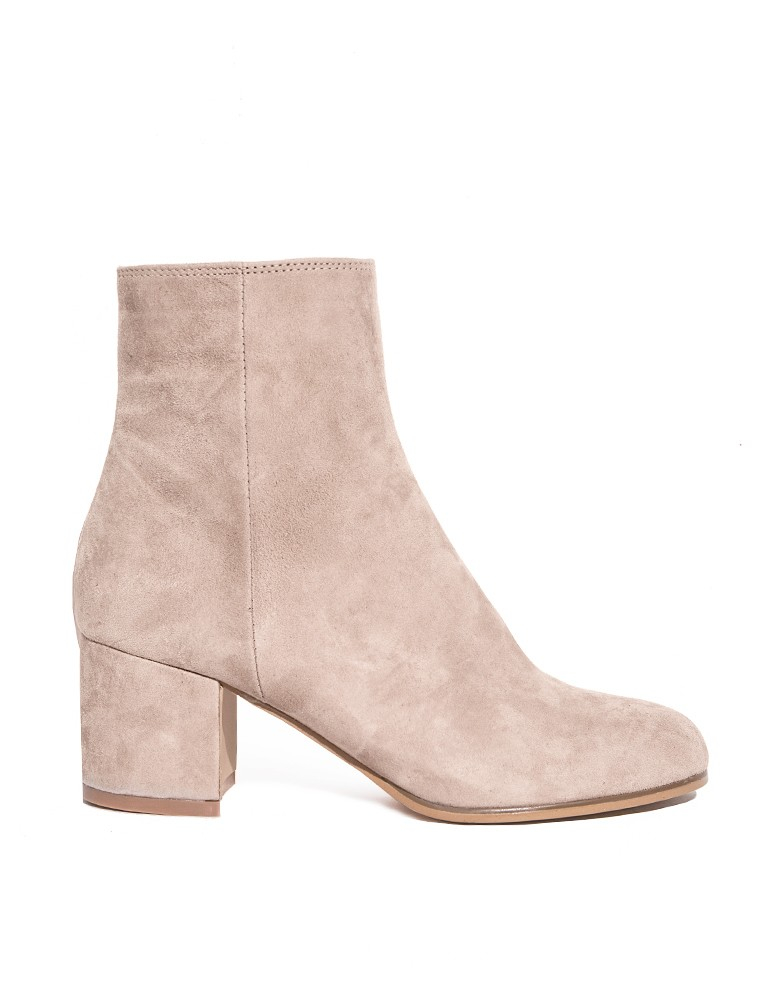 pixie market light suede ankle boots in brown lyst