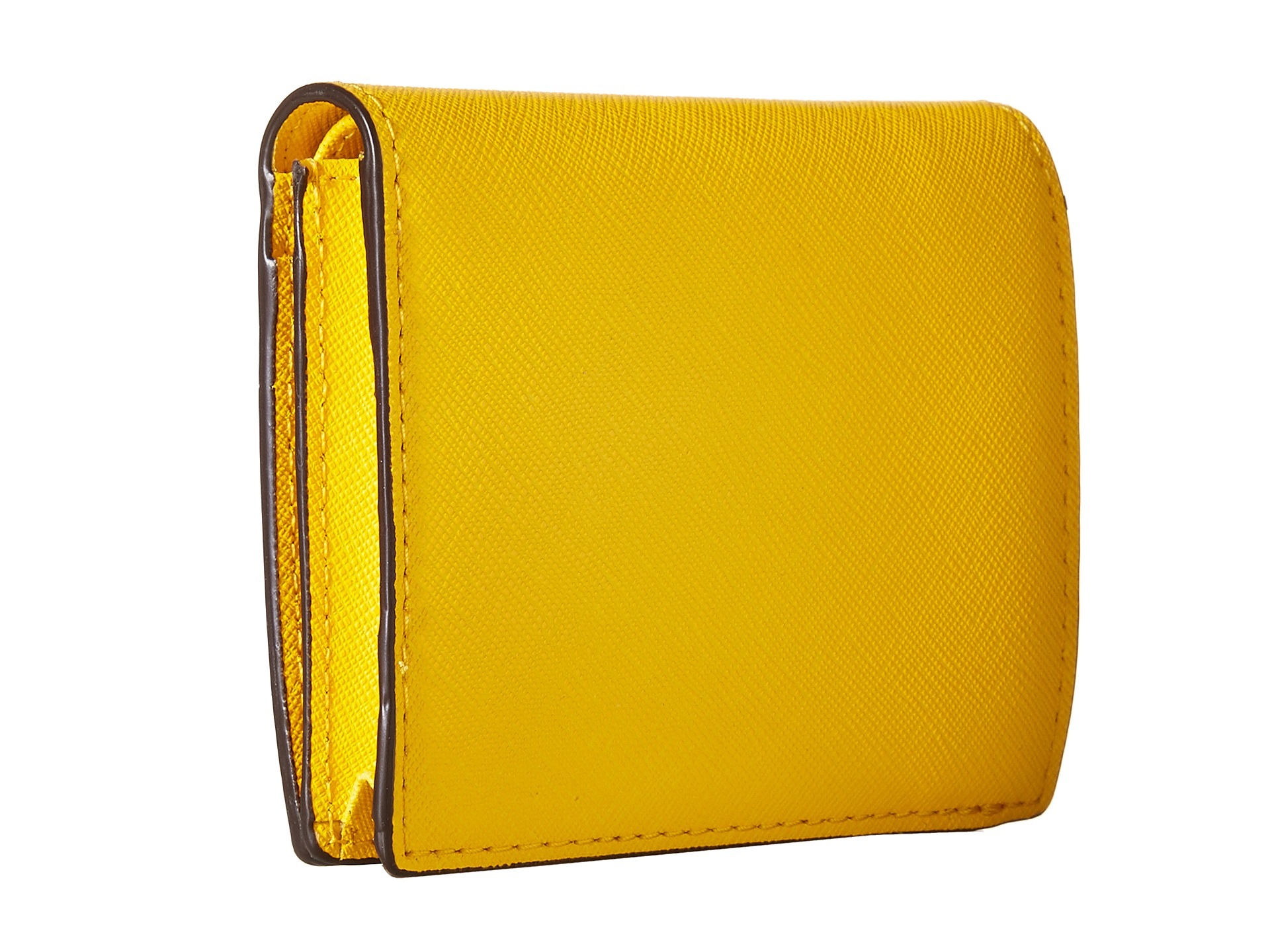 72d30b23ad9cd Lyst - MICHAEL Michael Kors Jet Set Travel Flap Card Holder in Yellow