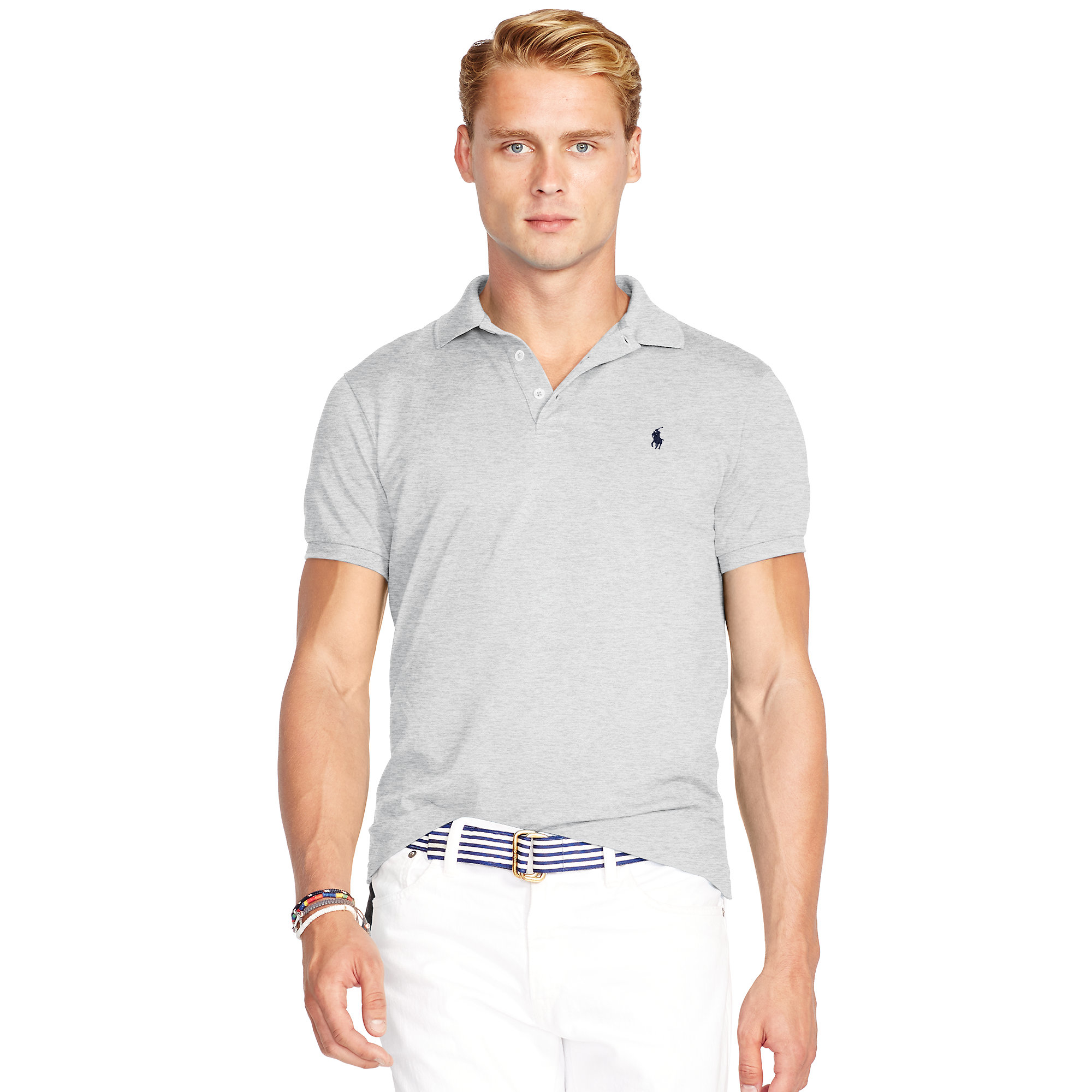 8a15df65 Polo Ralph Lauren Gray Slim-fit Stretch Mesh Polo for men
